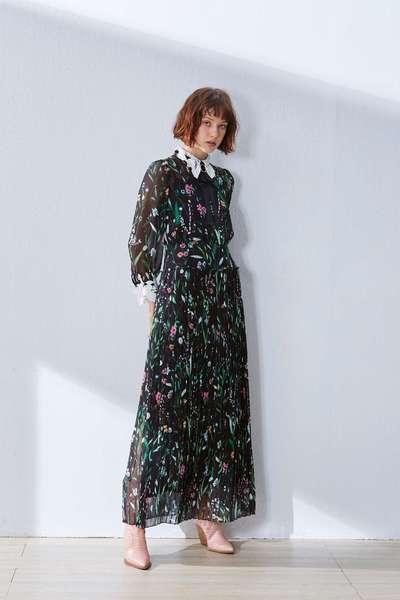 Vintage small floral design dress