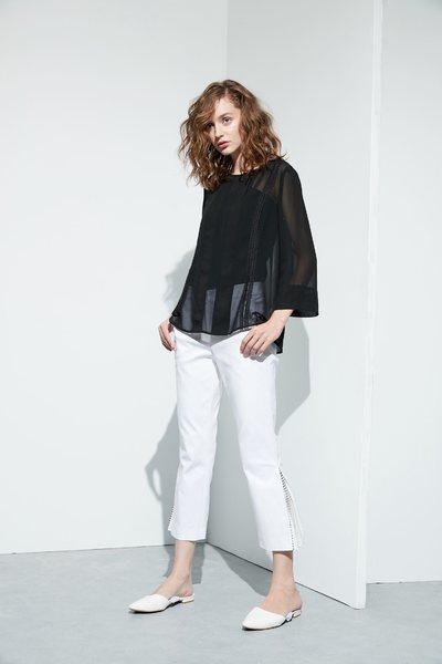 Side split stitching design trousers