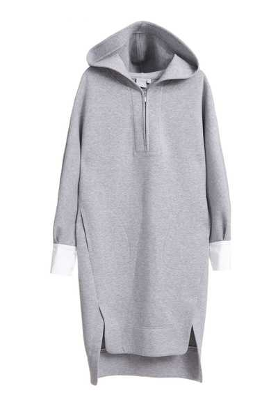 Hooded air layer dress