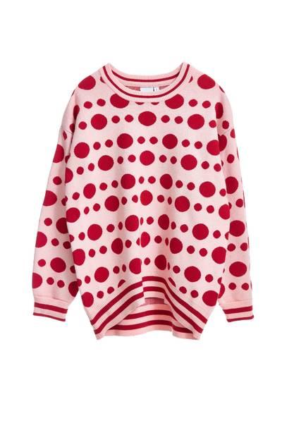 Polka dots long sleeved tops