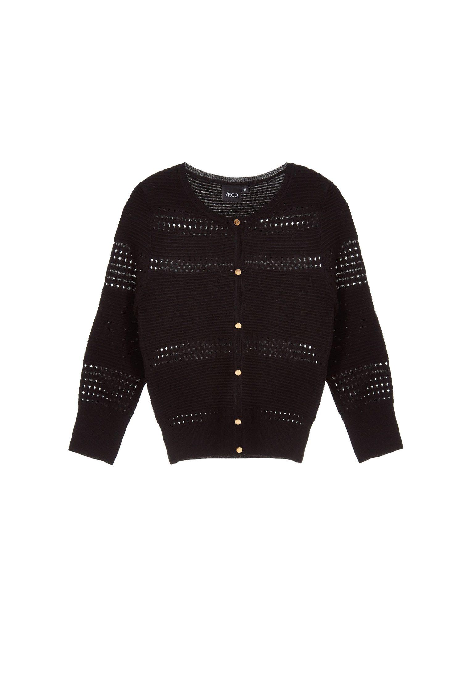 Micro-transparent classic knit coat