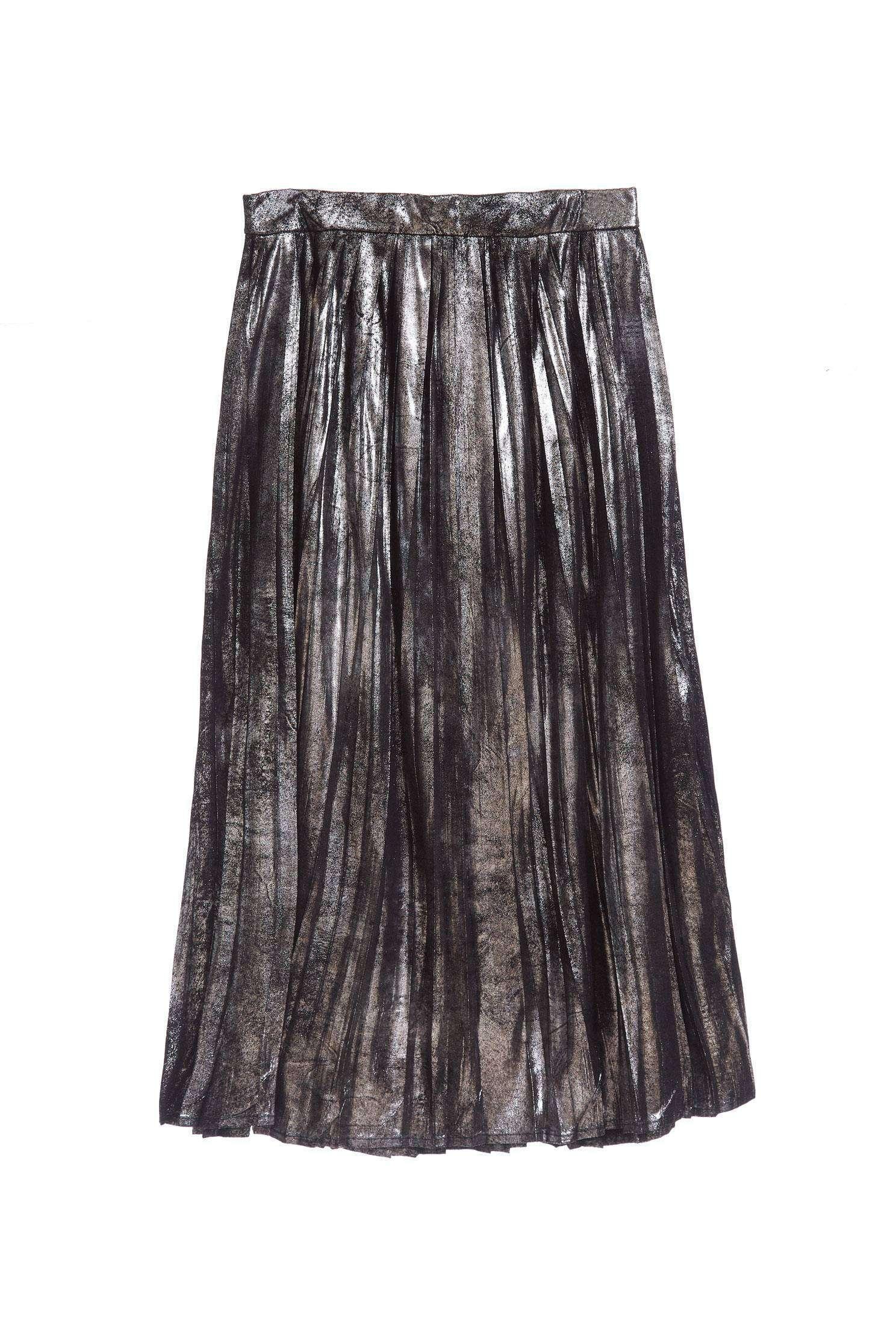 Elegant Pleated A Line Maxi Skirt