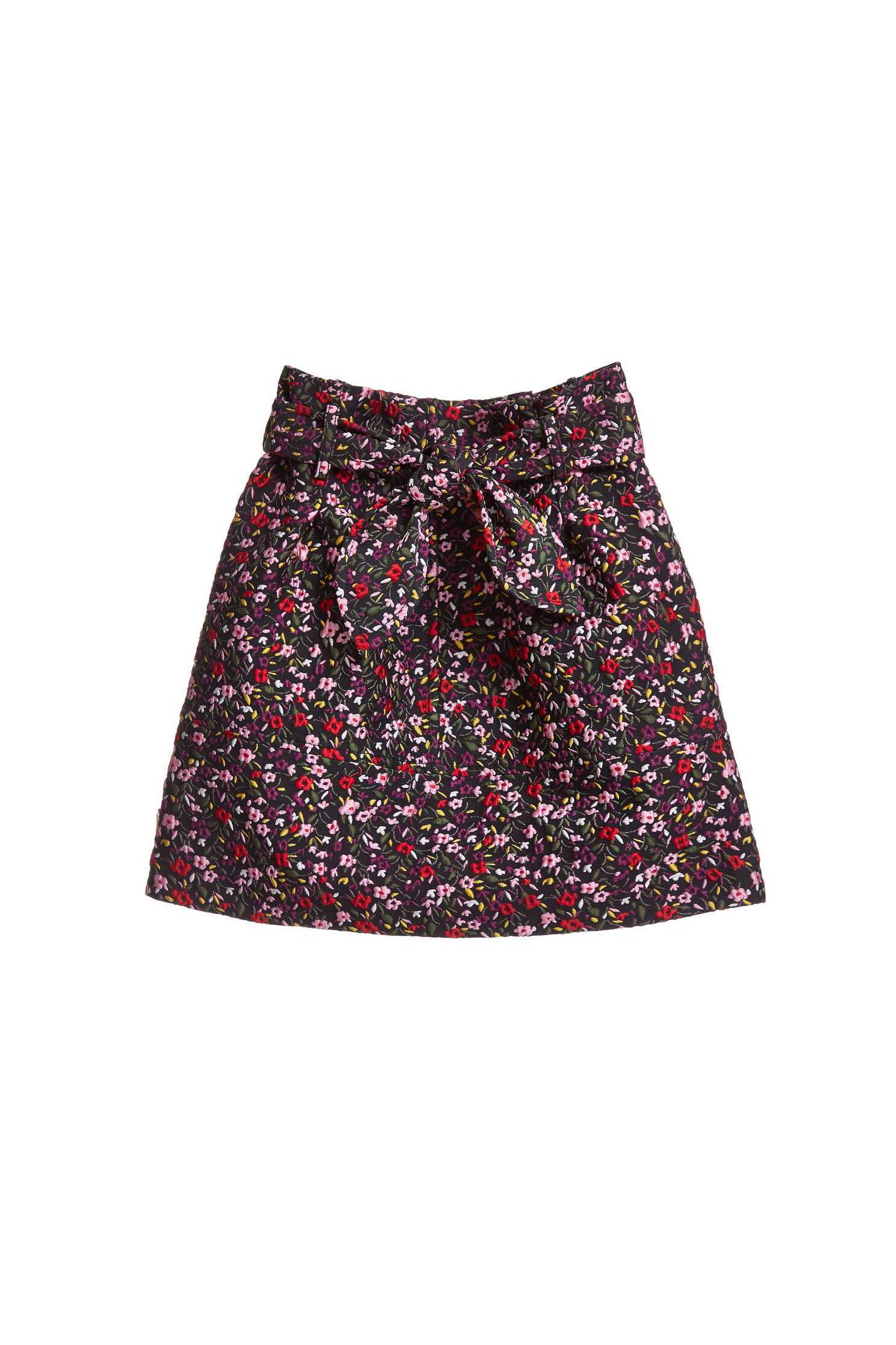 Retro floral totem mini skirt