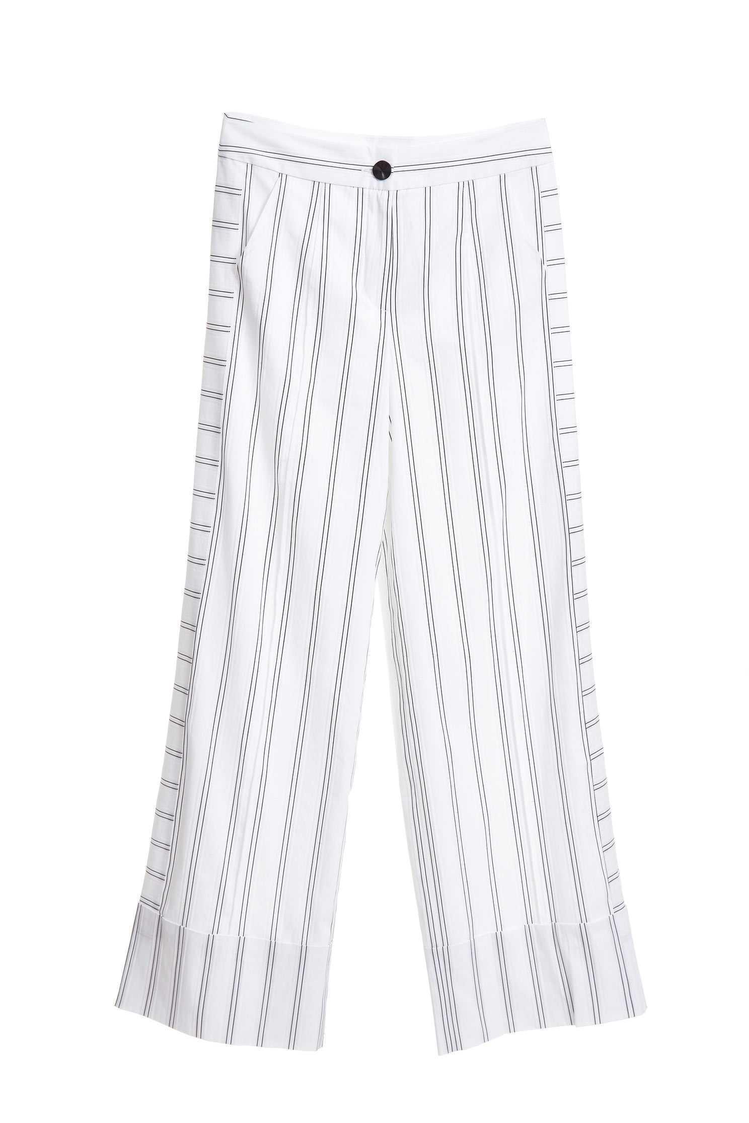 Irregular striped fashion wide-leg pants