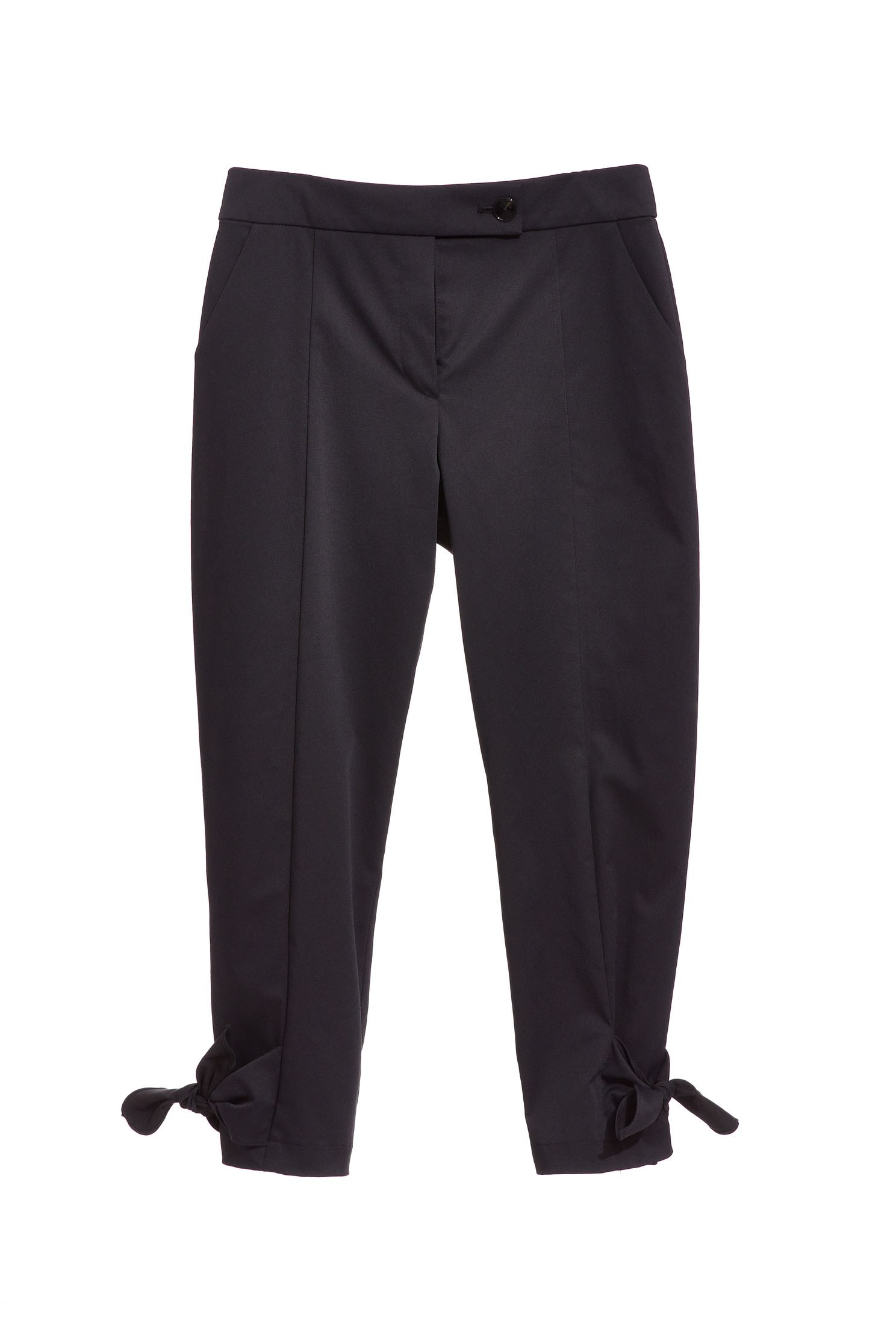Suit pants with knot bottom