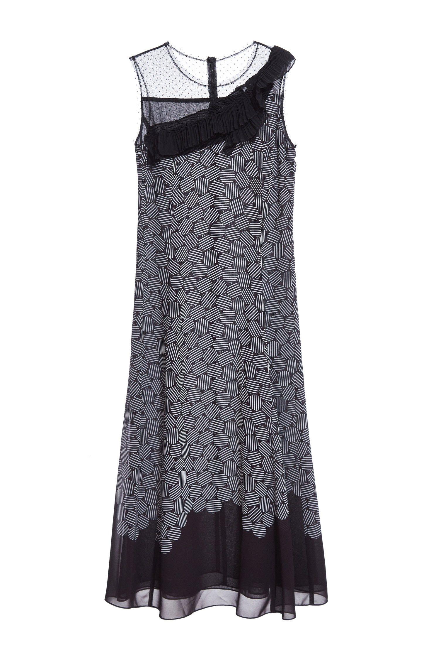 Charming solid flounce dress