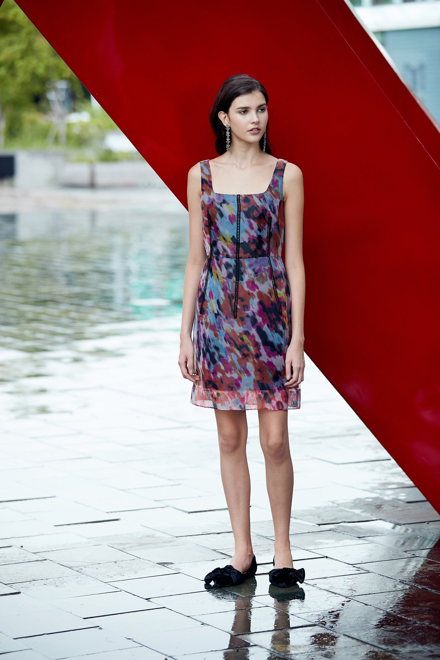 colourful blooms dress