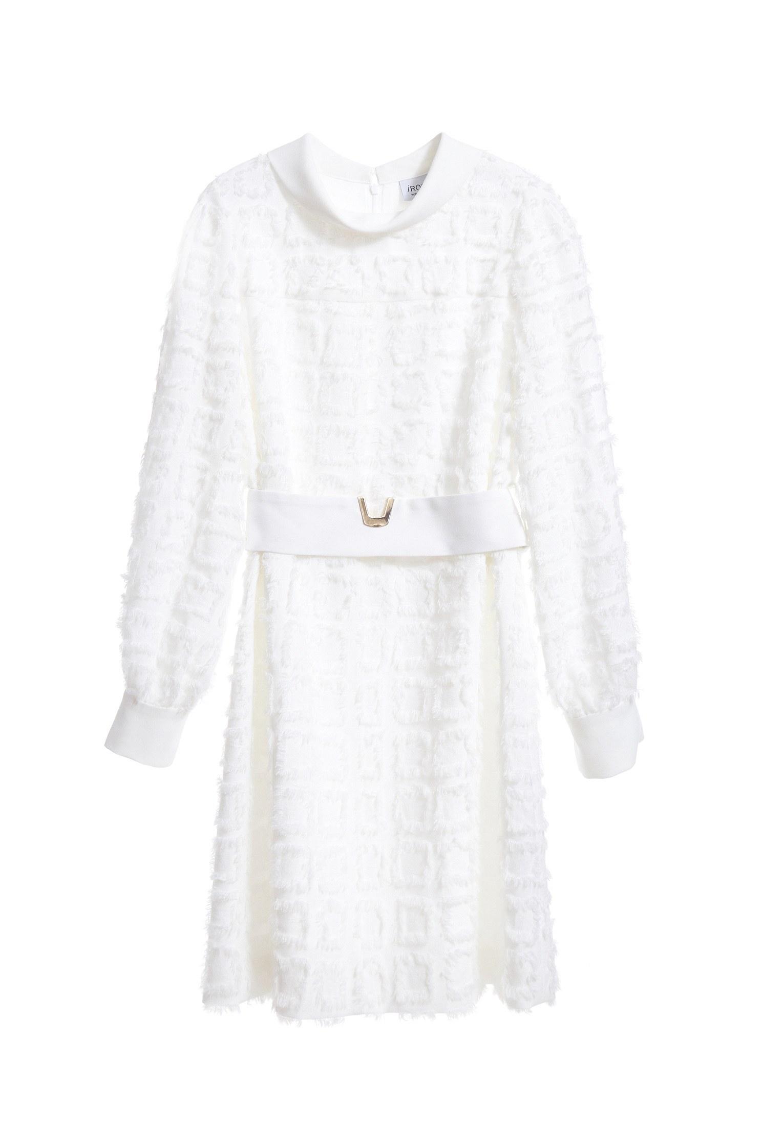 Romantic see-through lace chiffon dress
