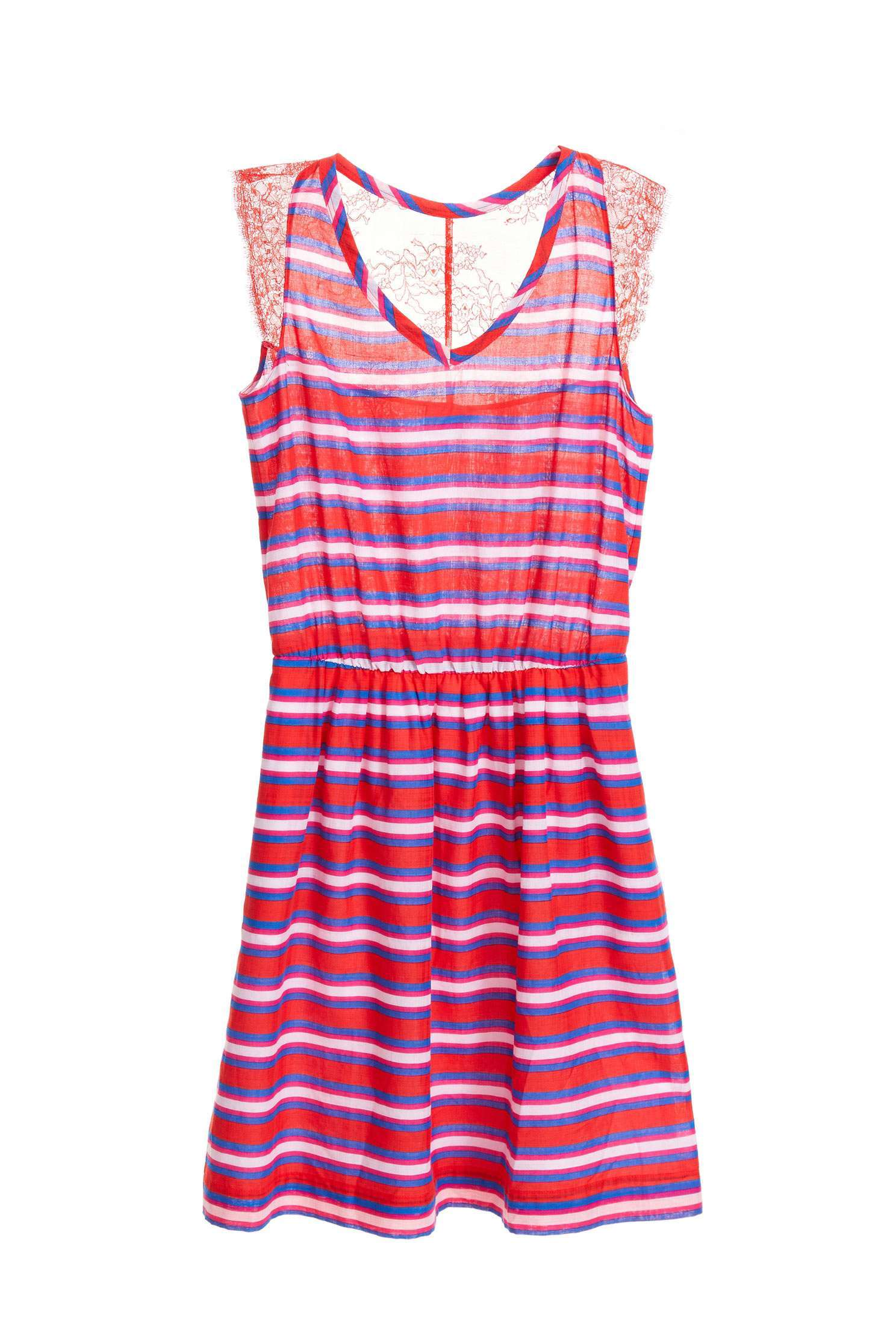 Striped color matching dress