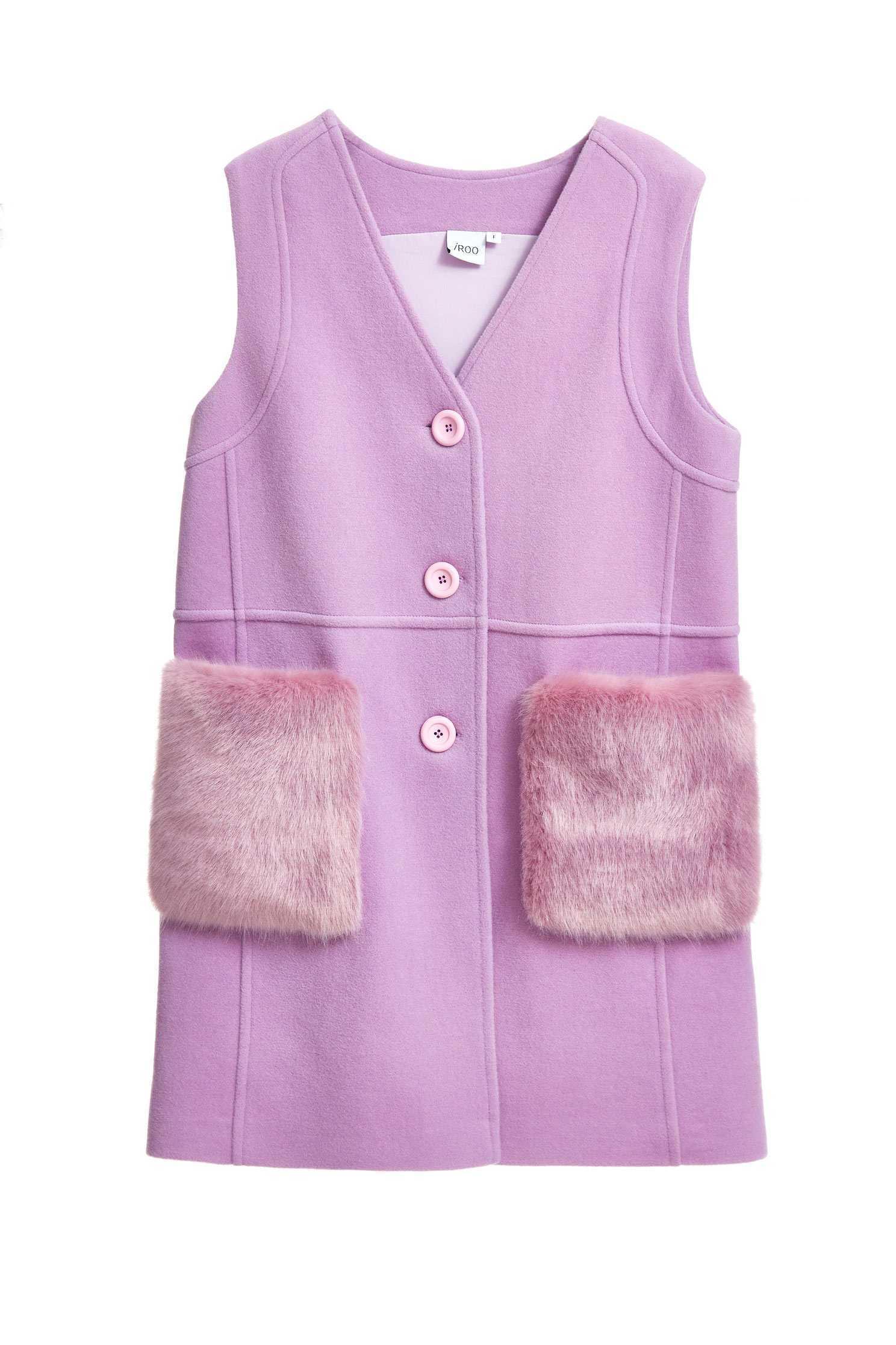 Fluffy pocket vest