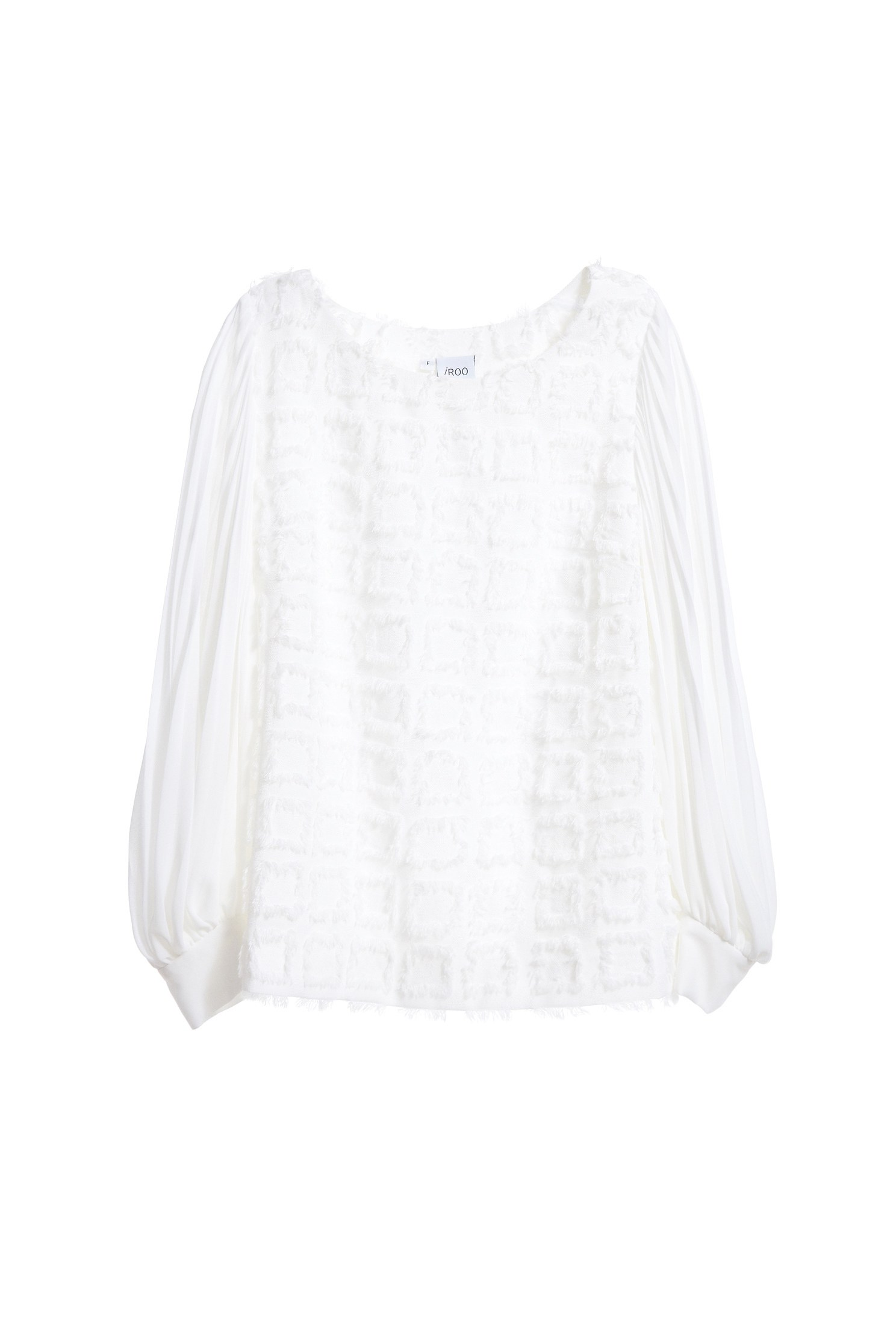 Romantic see-through lace chiffon top