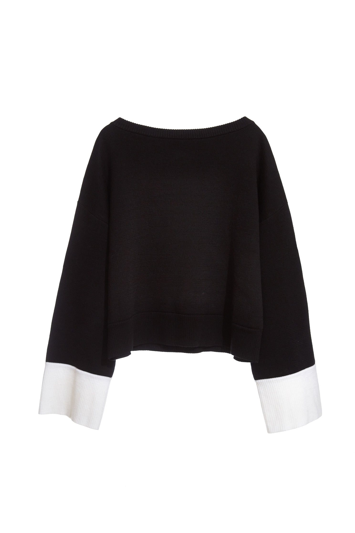 Contrast Color spliced sleeves top
