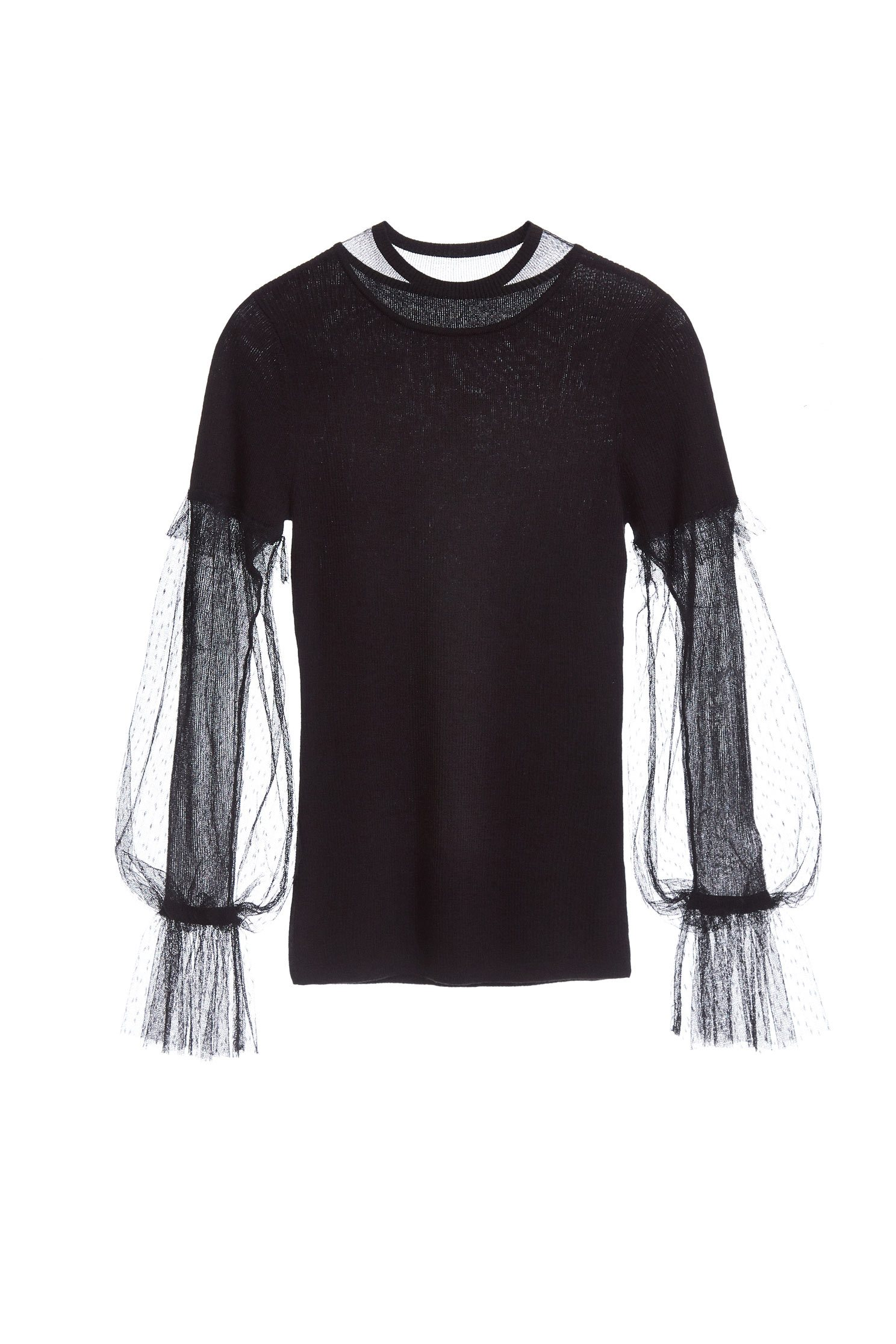 Lace stitching popular design long-sleeved top
