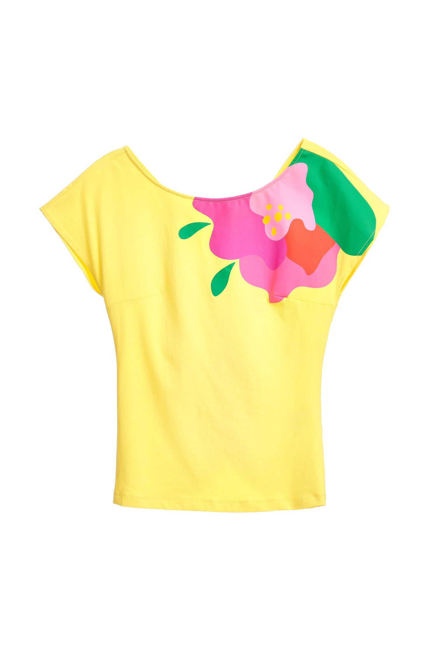 iROO x Flower in Vogue vibrant flower top