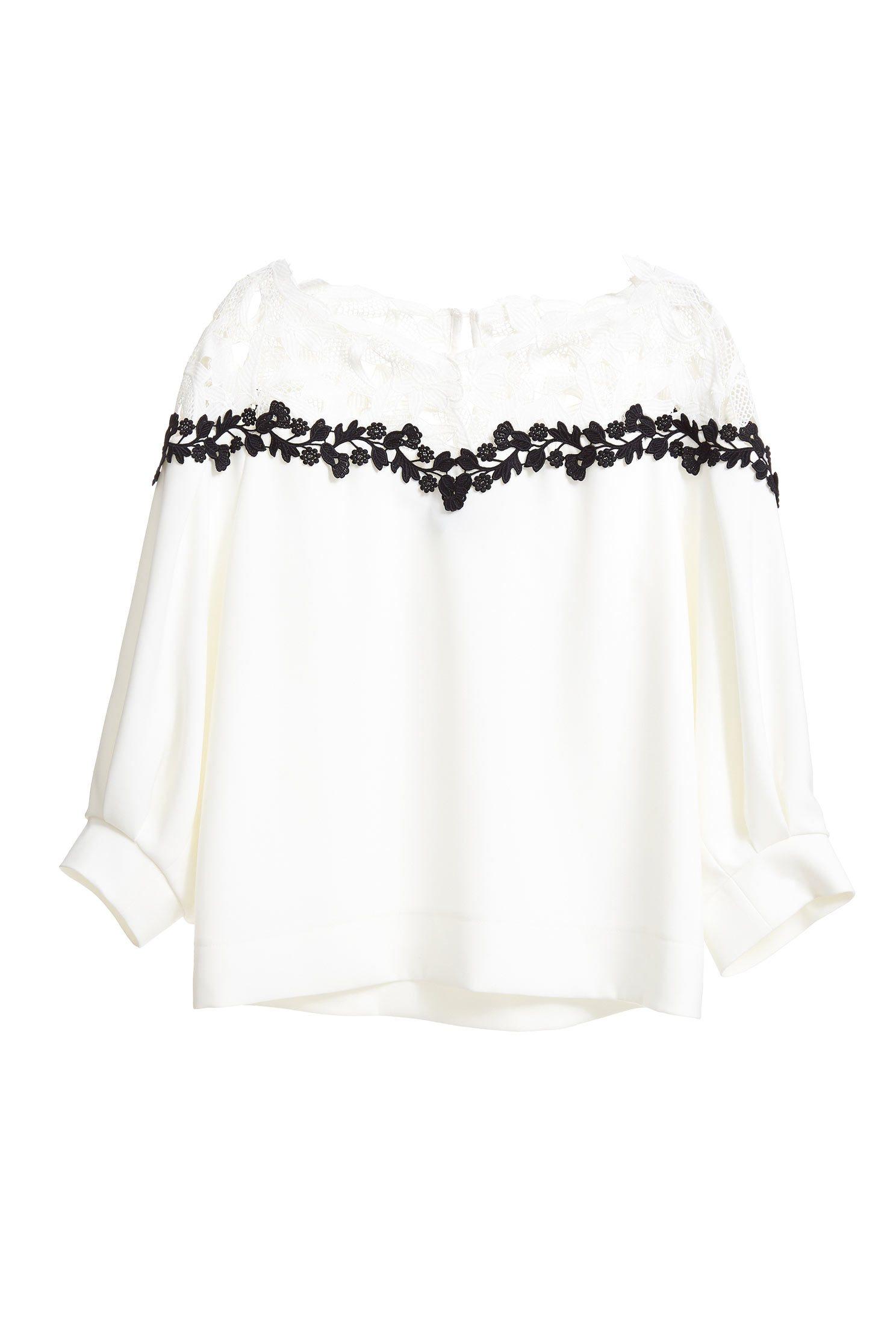 Micro-transparent stitching top