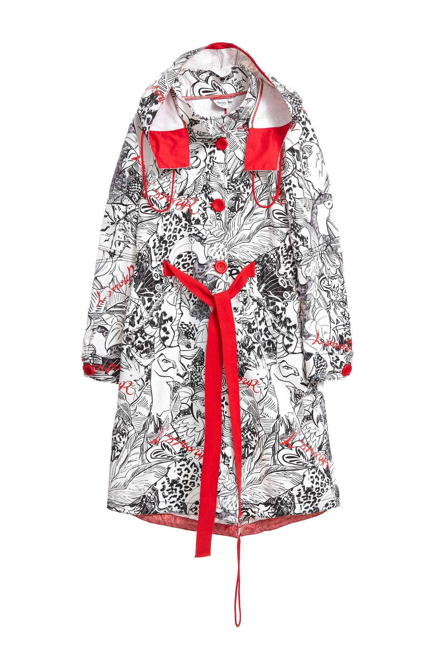 elegant coat with  toucan pattern