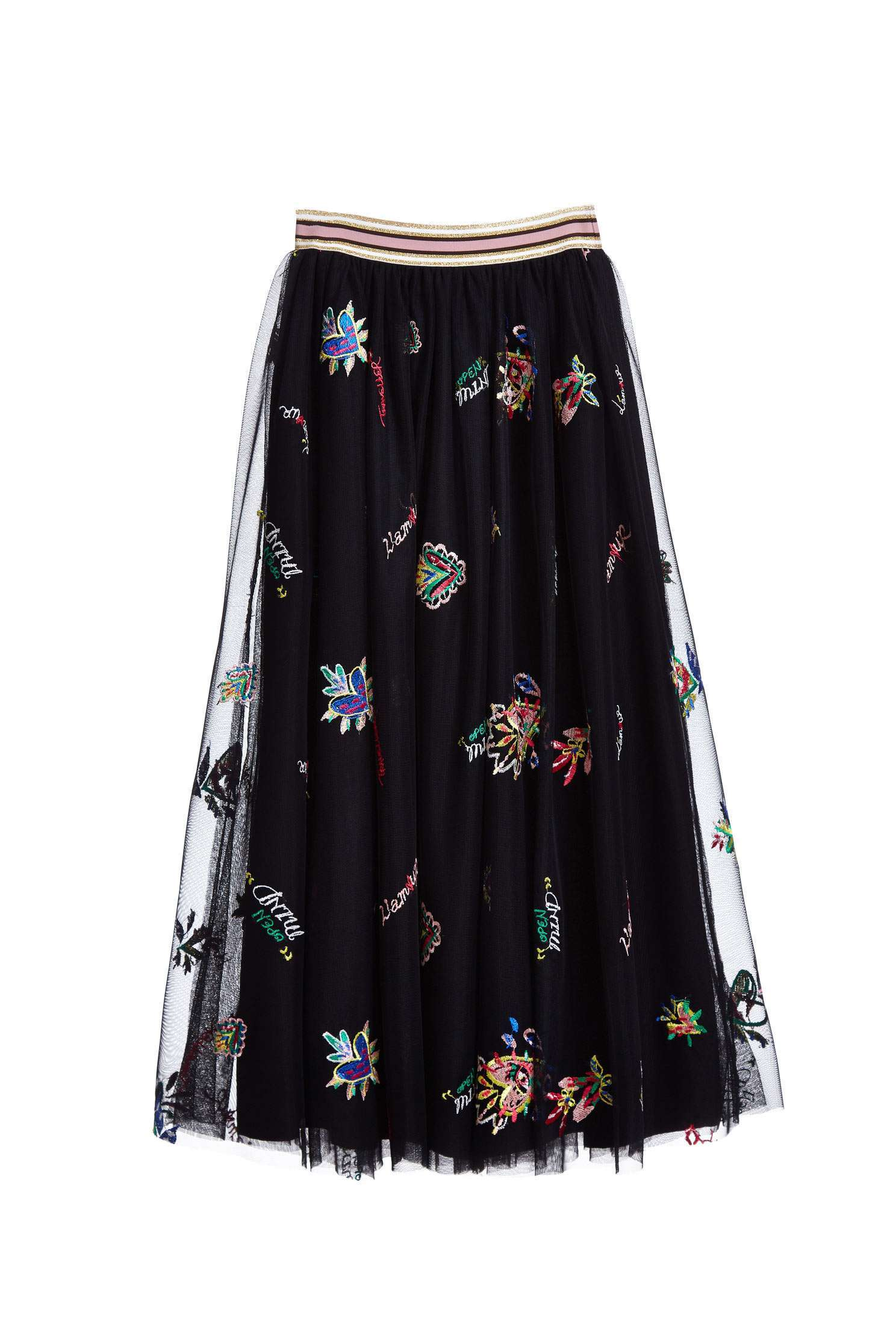 Grace long skirt with pattern