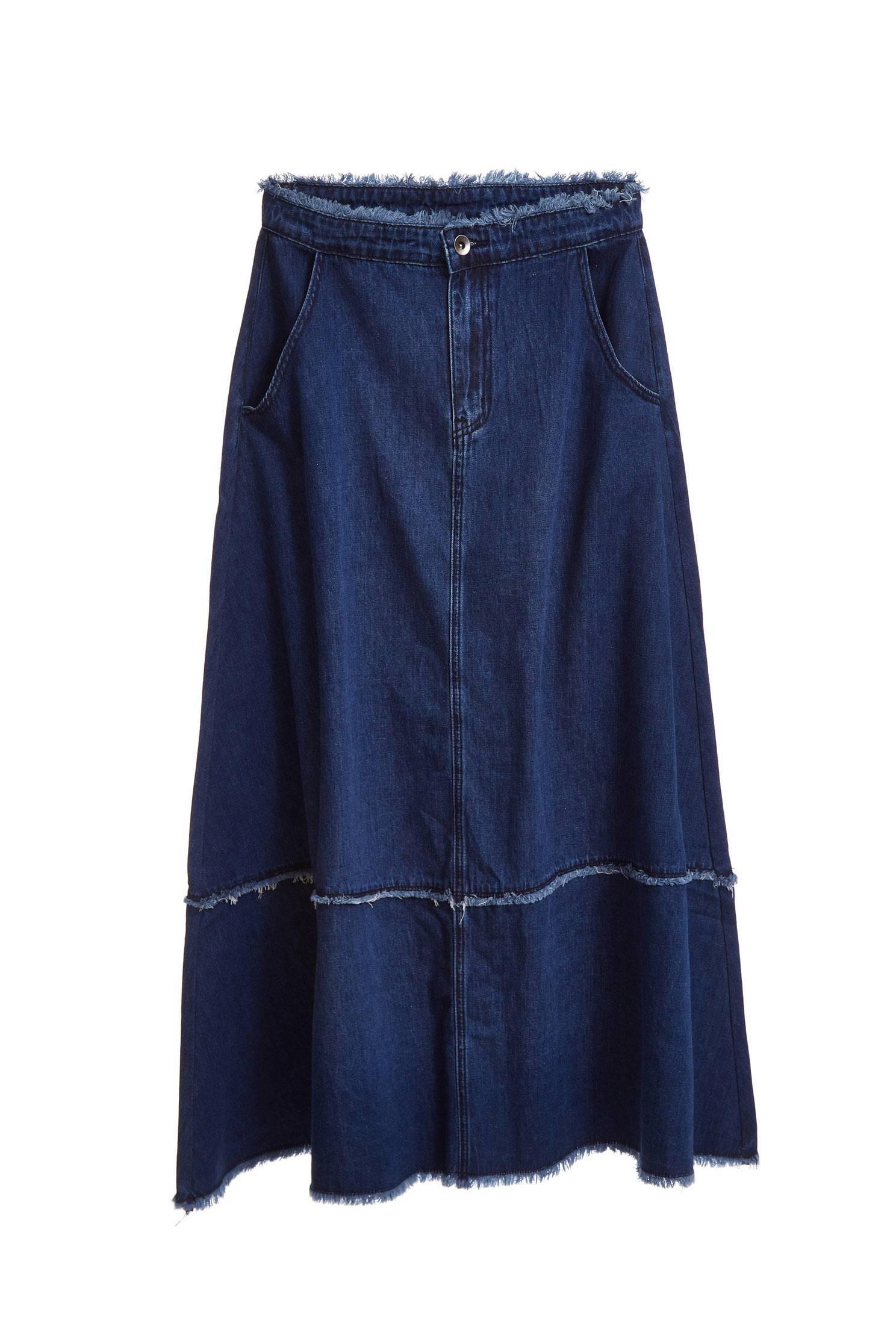 Stitching popular denim skirt
