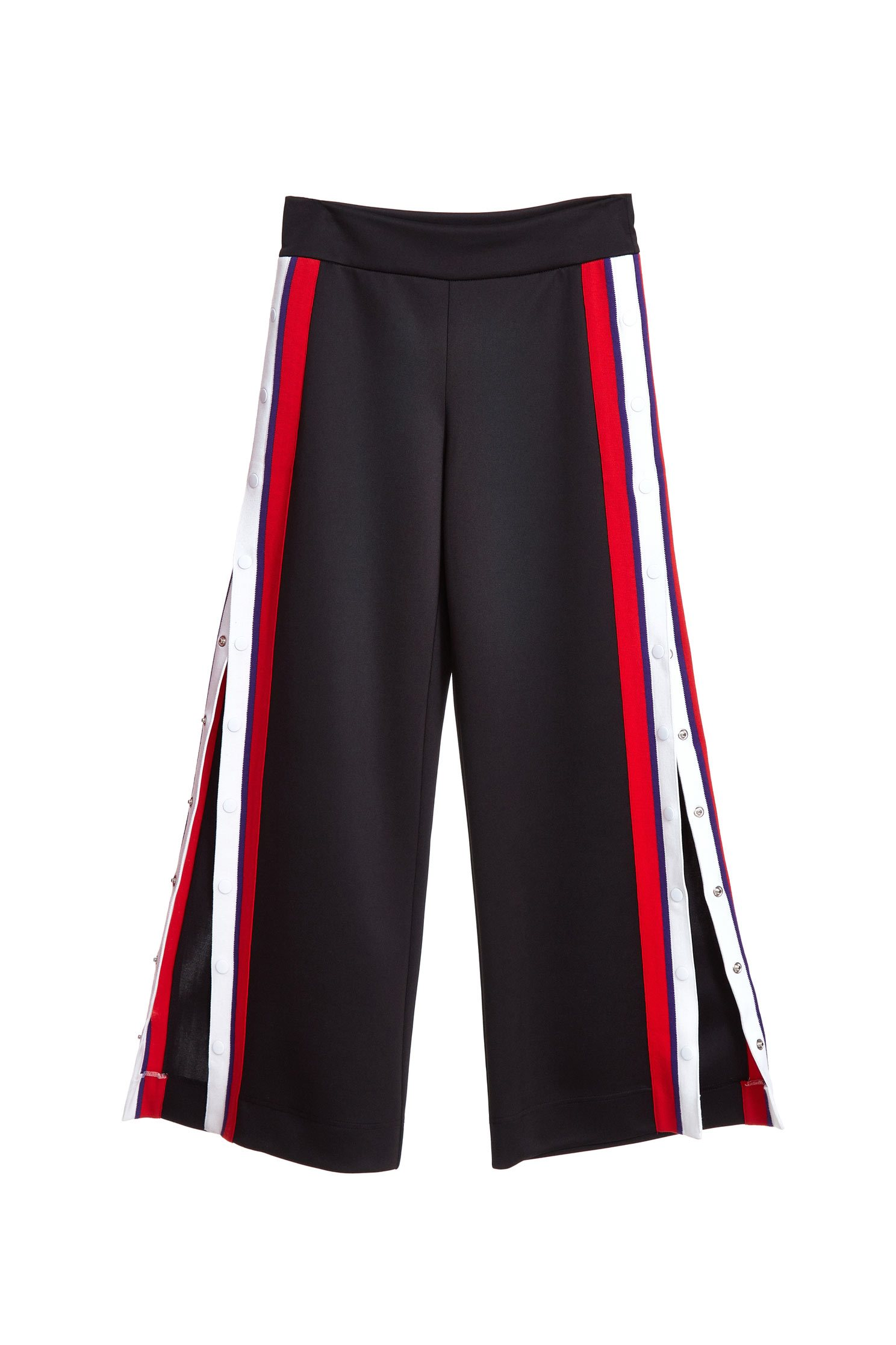 fashion Wide-leg trousers with buckle side slit