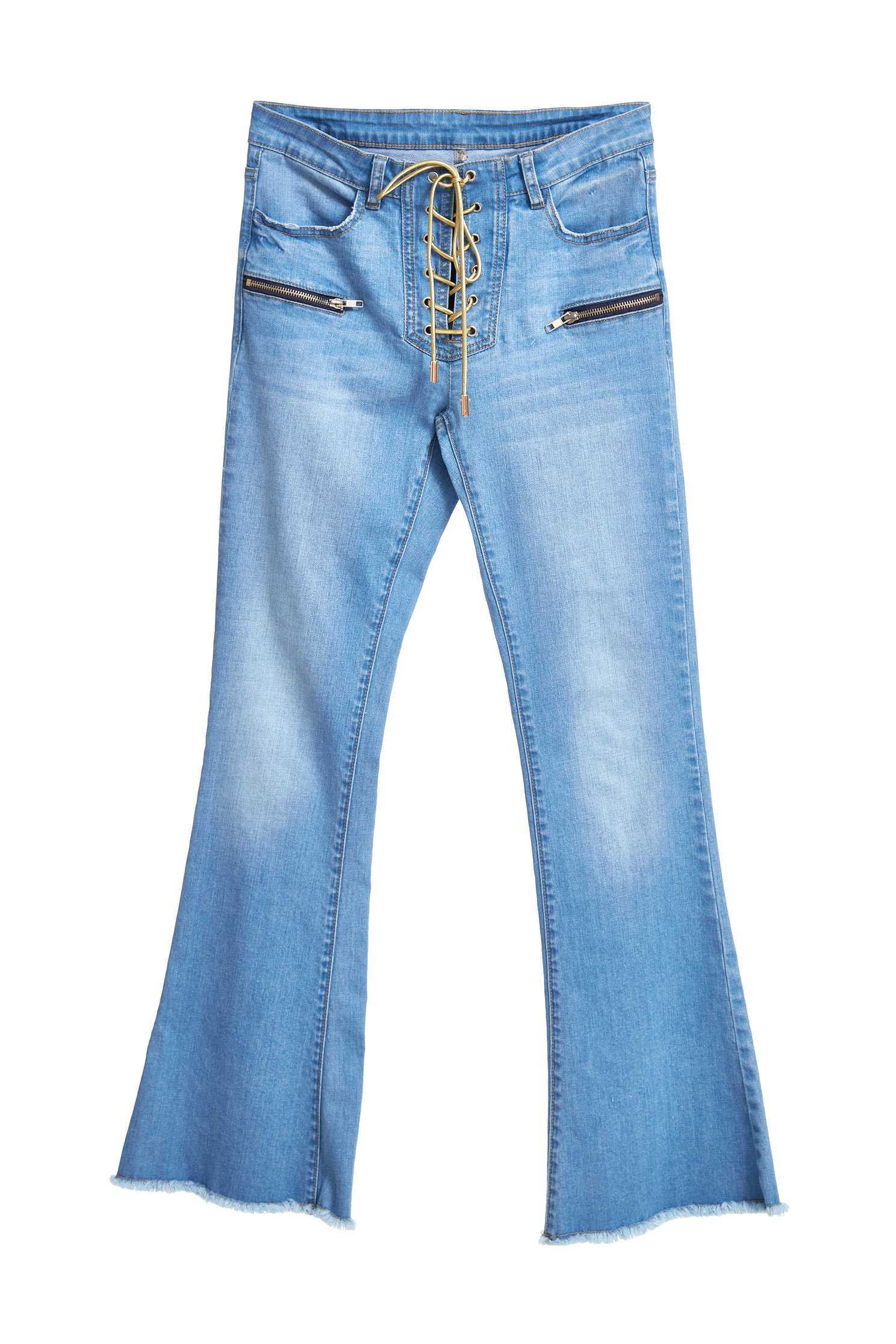 Wide bell-bottoms leg jeans