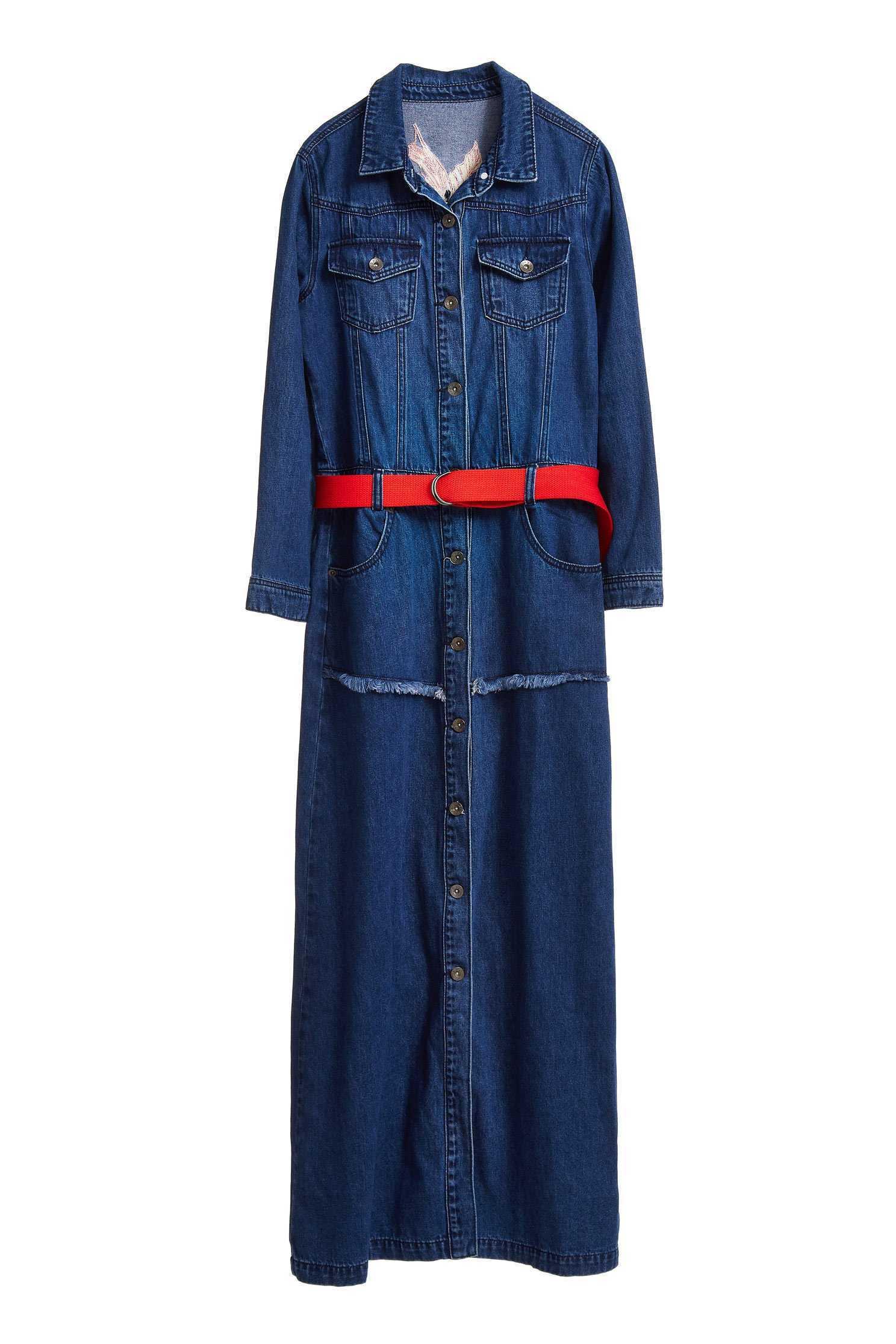 Denim Belt dress