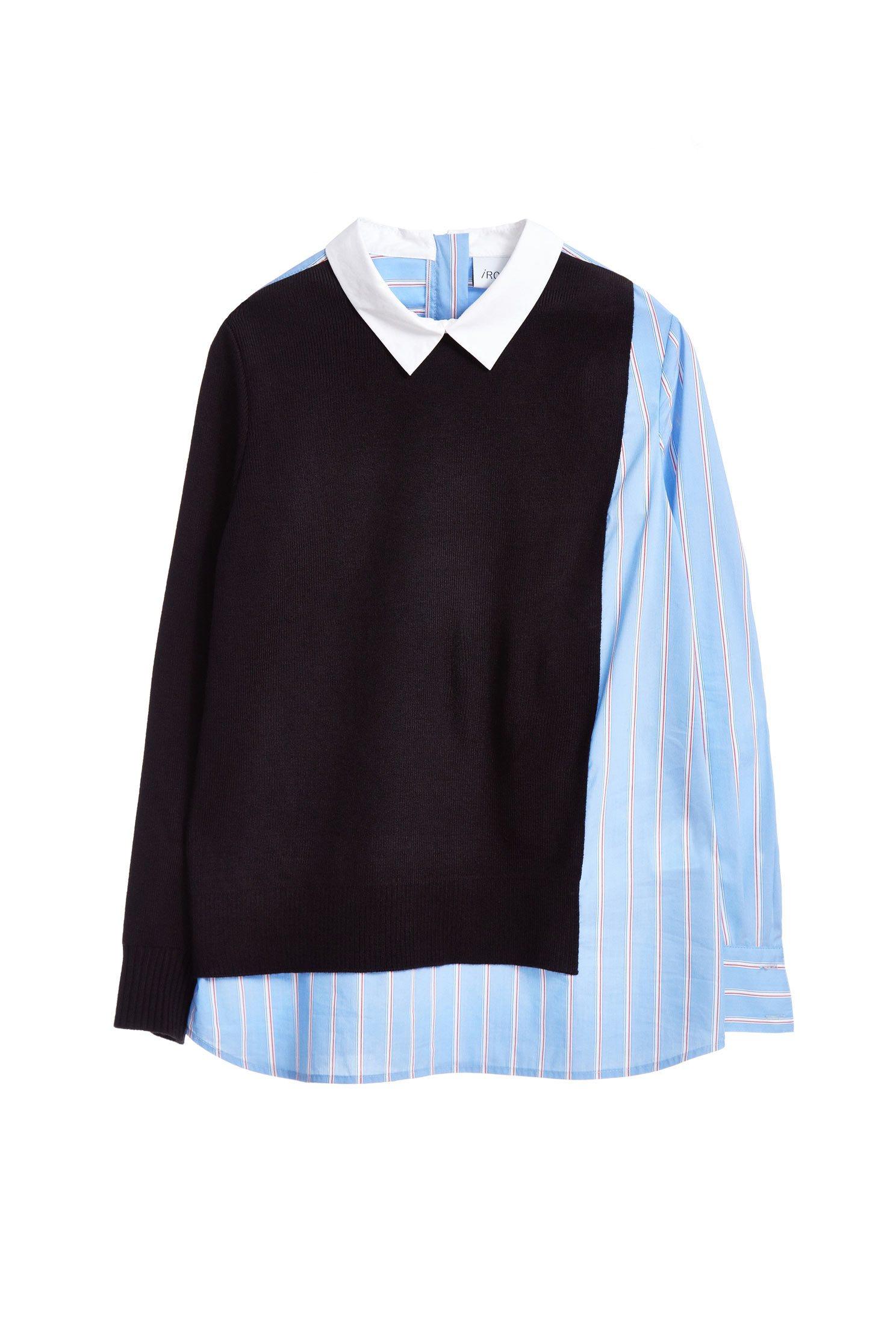 simple straight stripes fashion blouse
