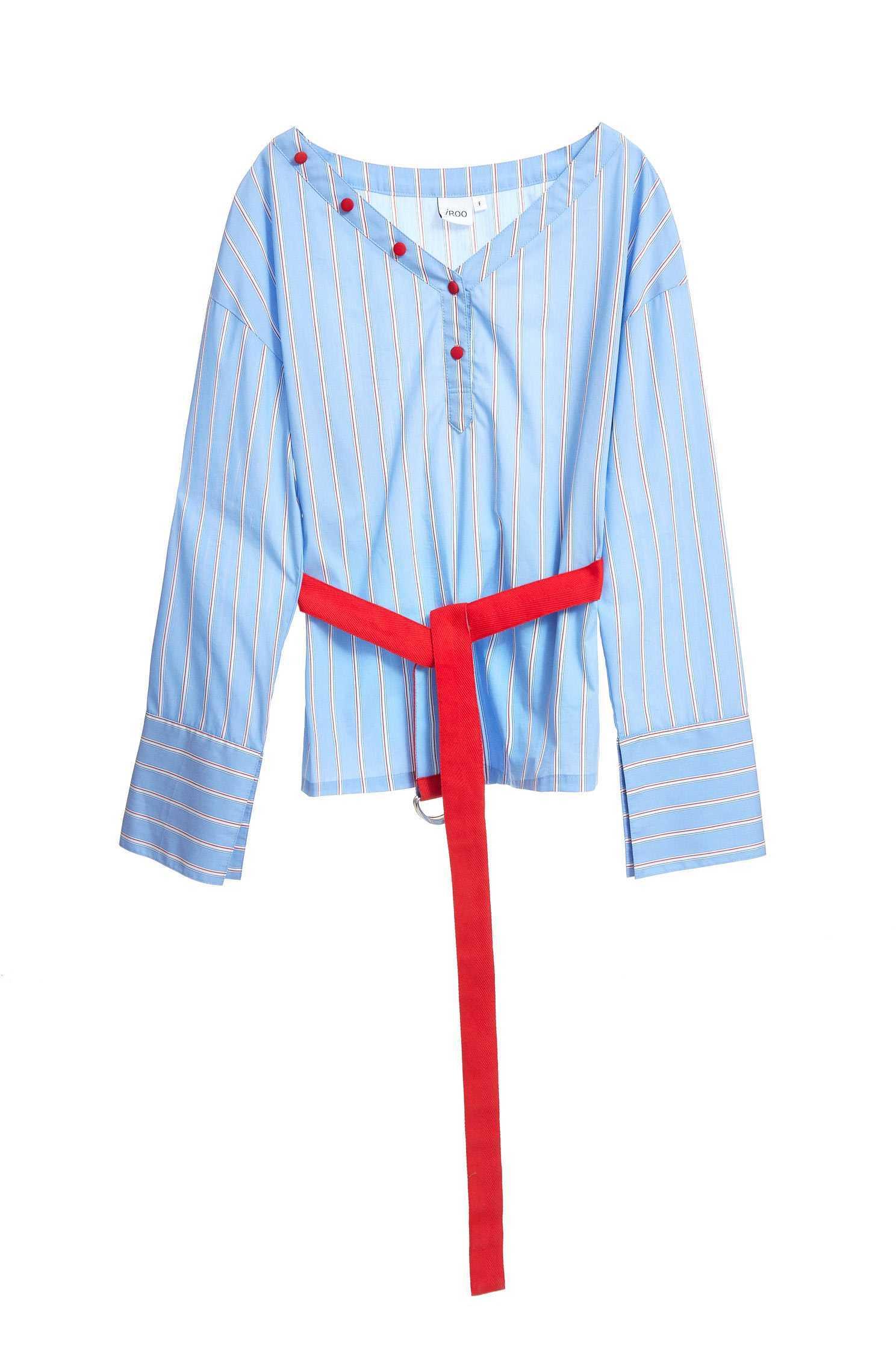 V-neck long sleeved blouse