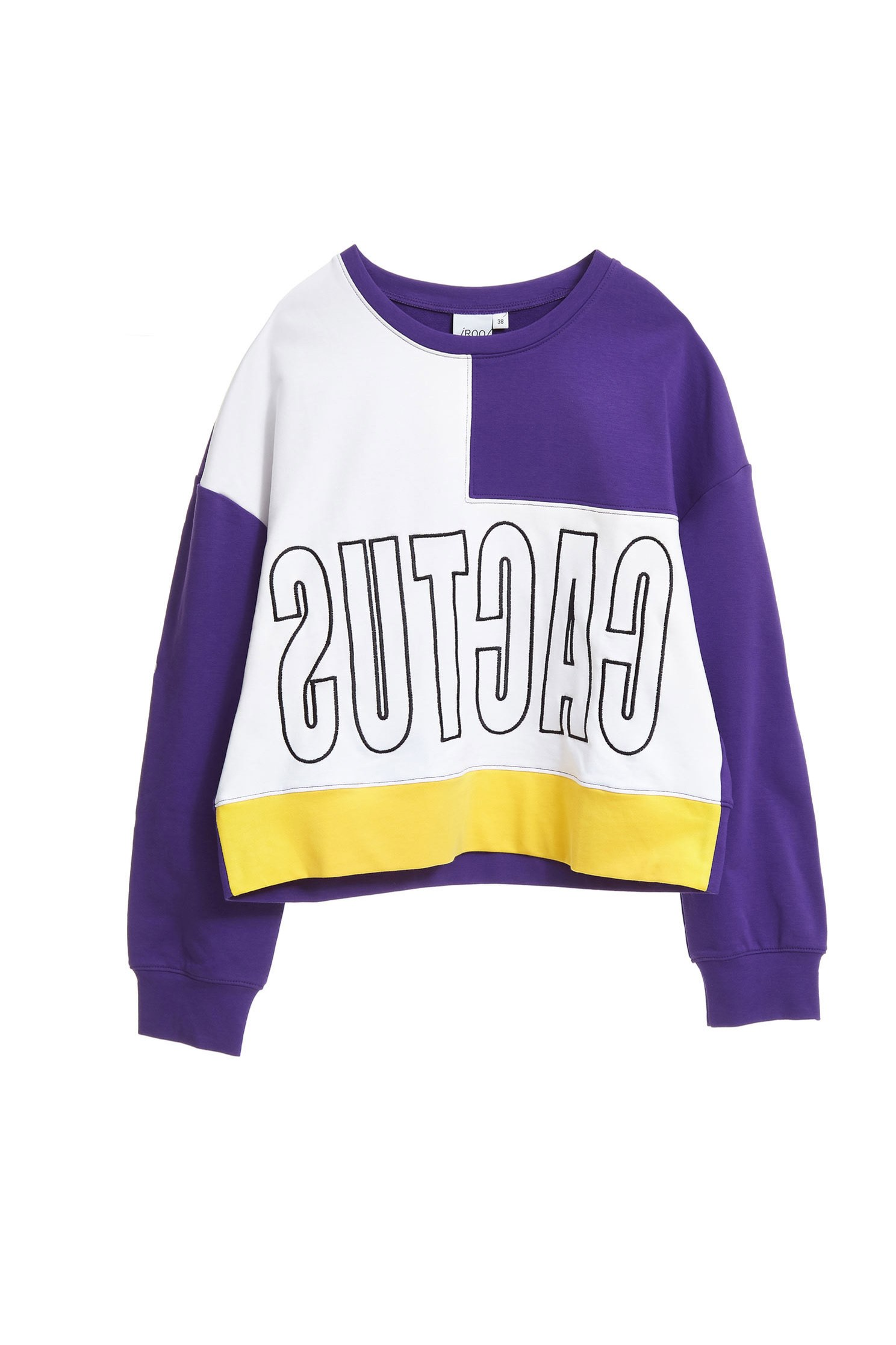 Color matching letters fashion tops
