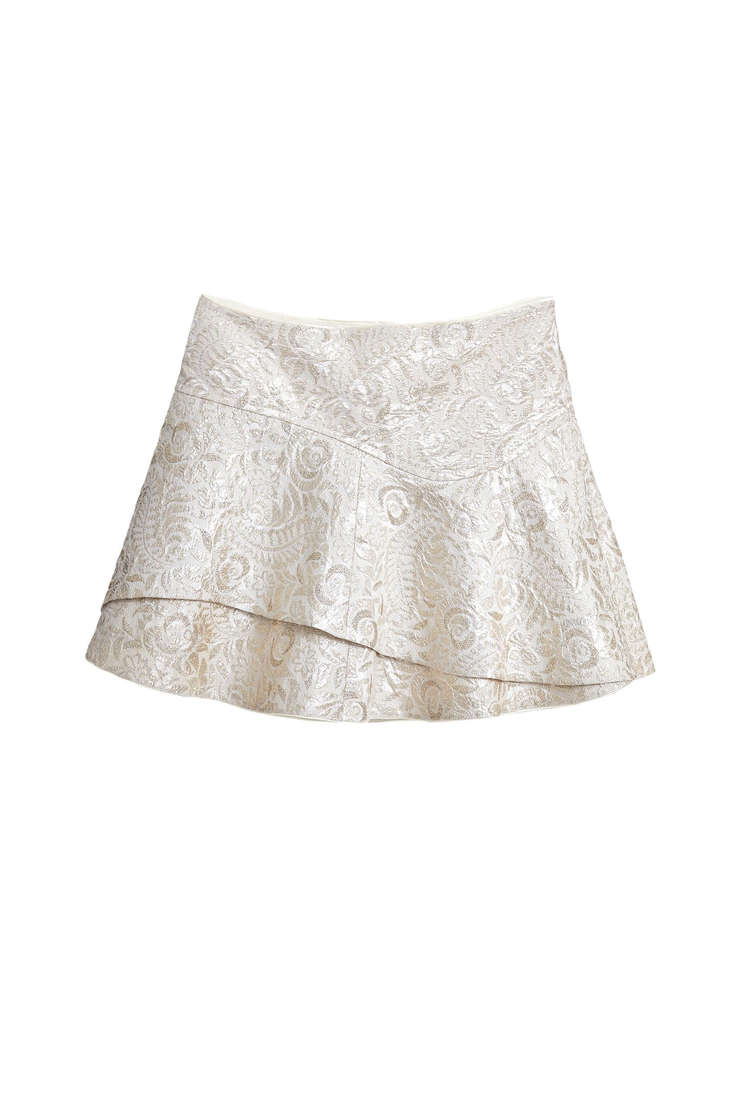 classic irregular mini skirt