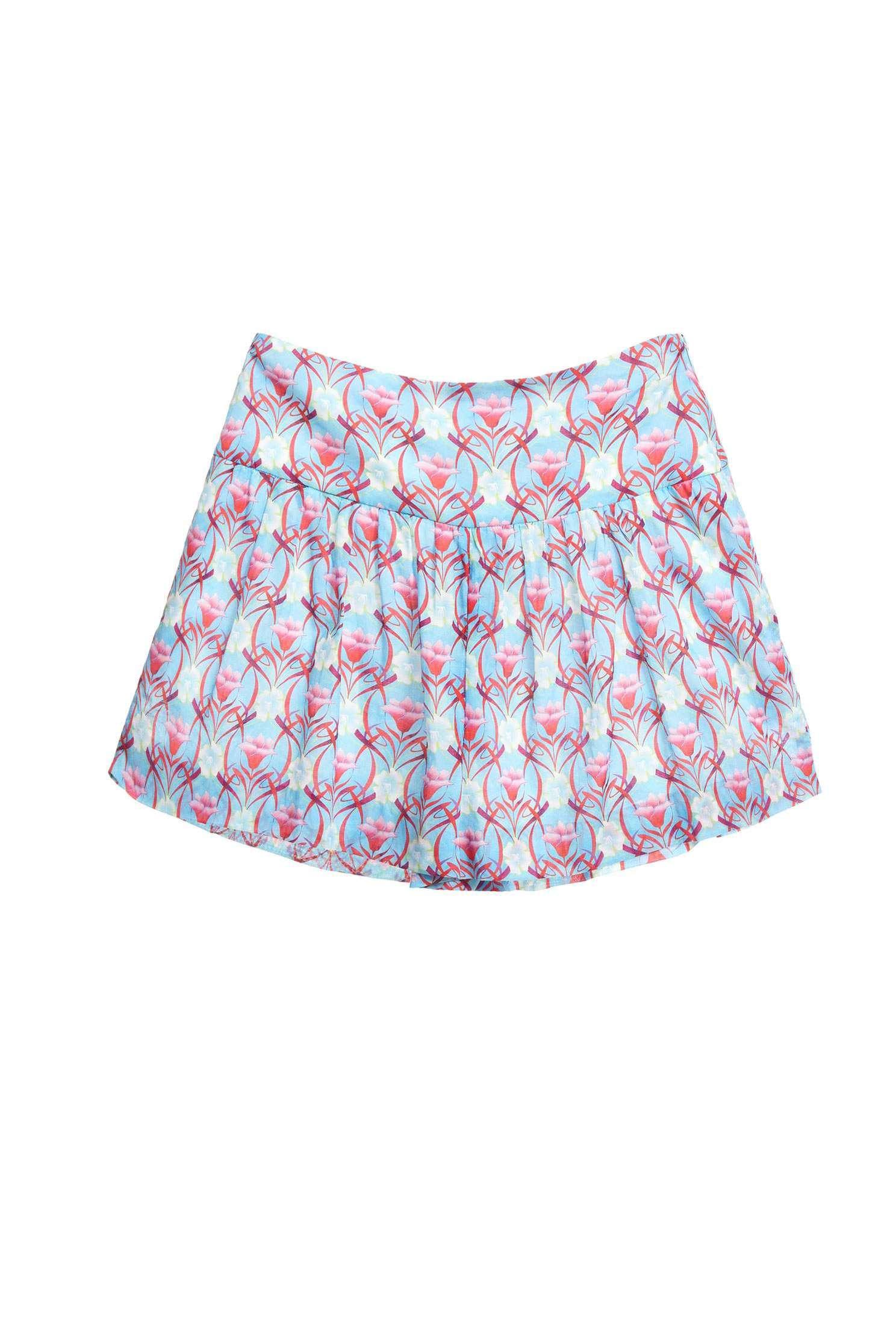 Elegant floral fashion shorts