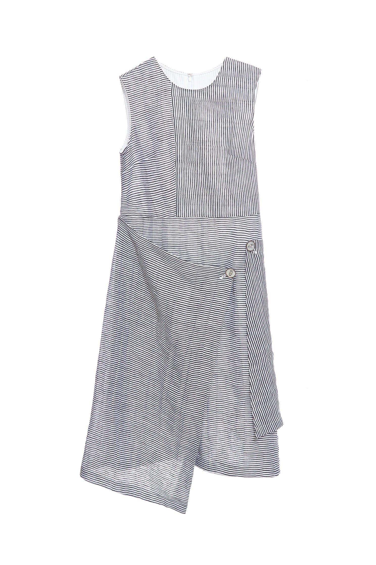 Striped irregular design dress
