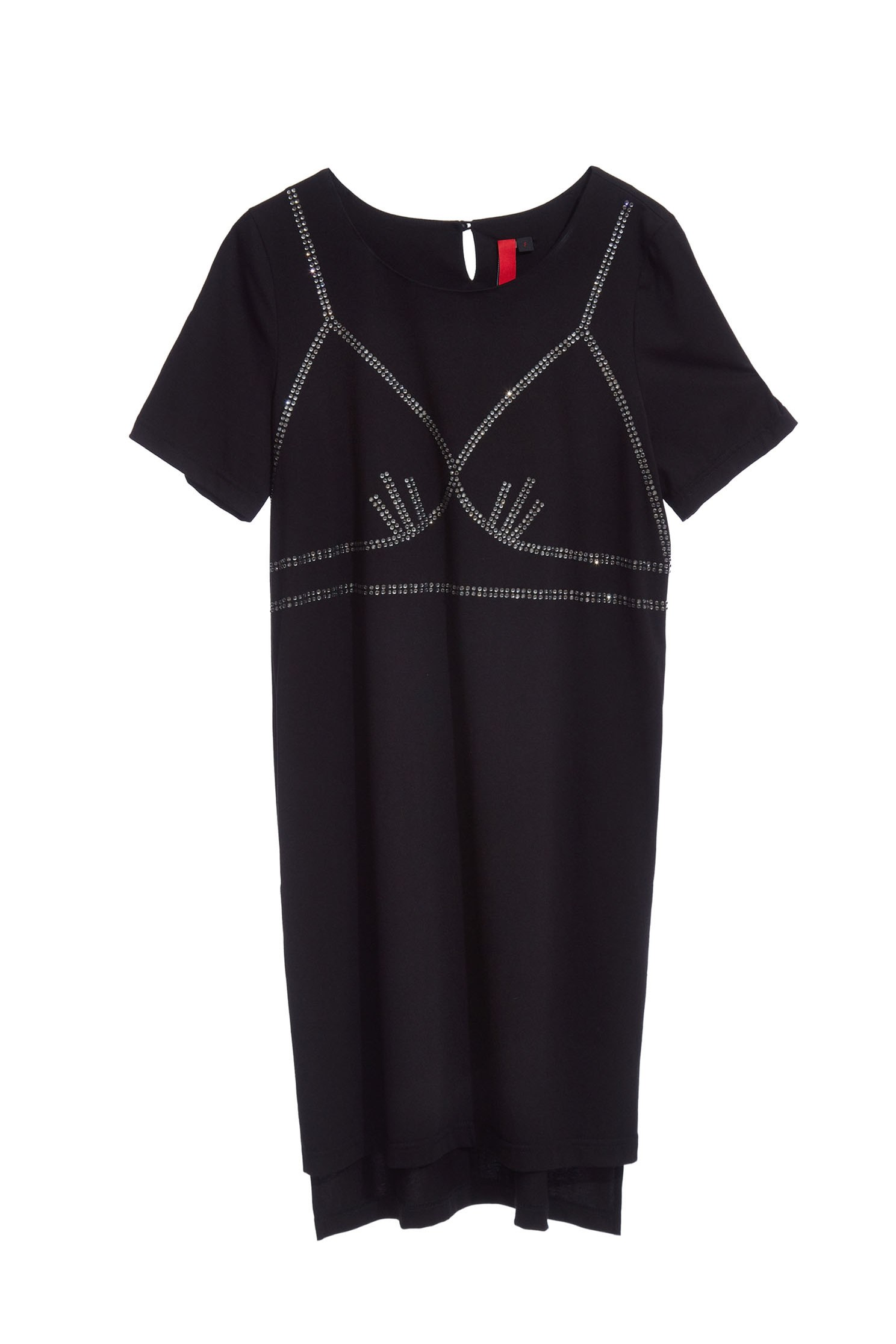 One-piece dress in bra printing