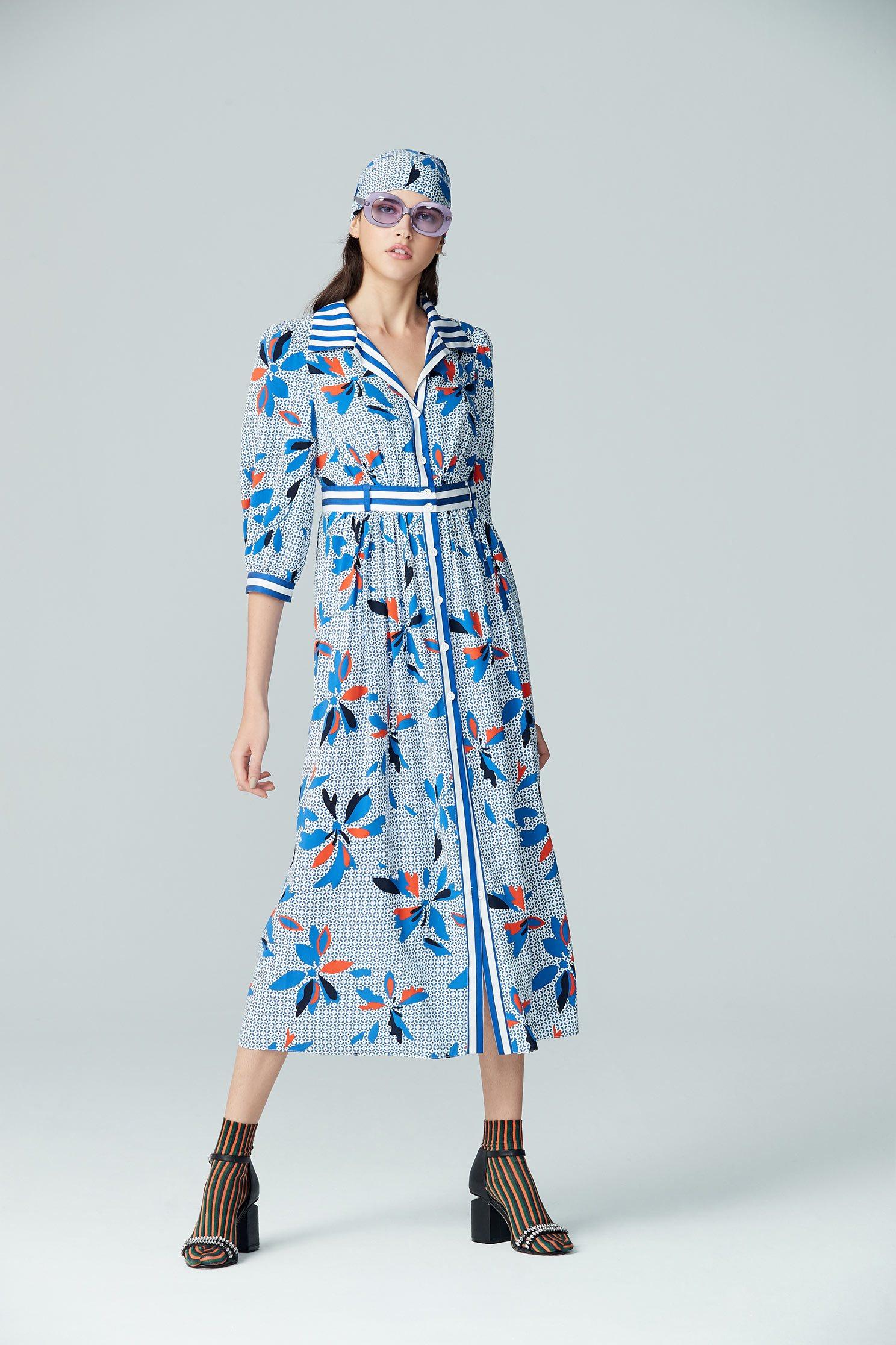flower pattern chiffon  dress