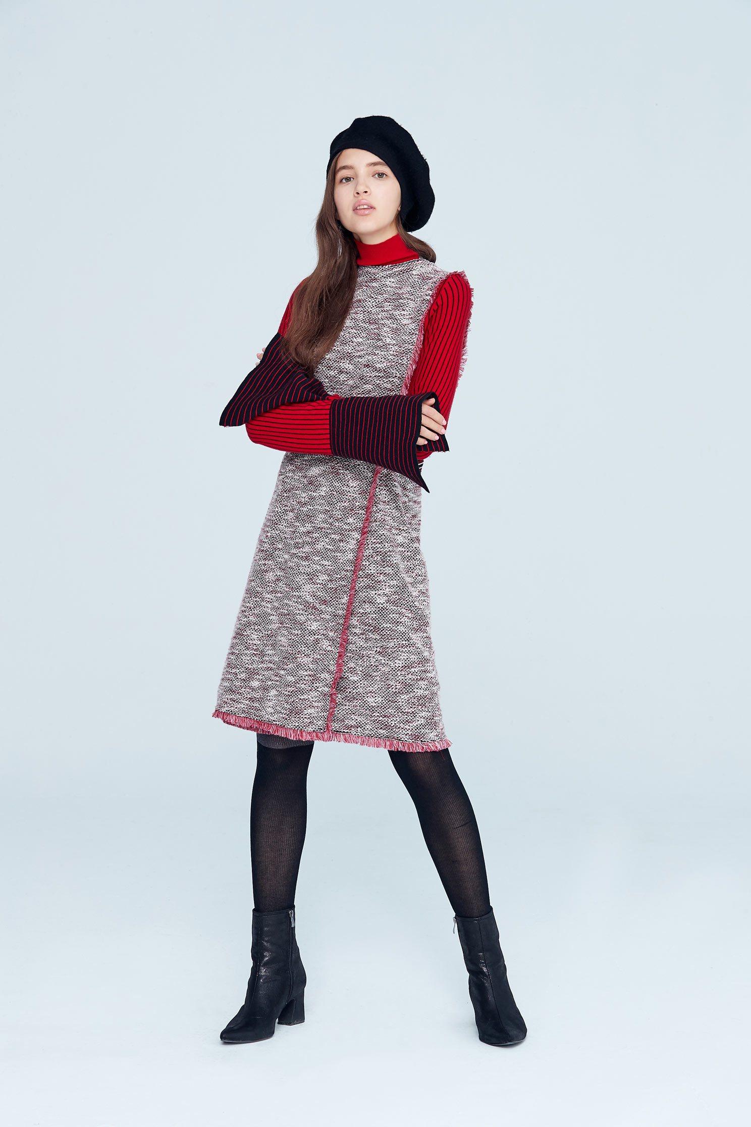 Elegant vintage classic design sleeveless dress