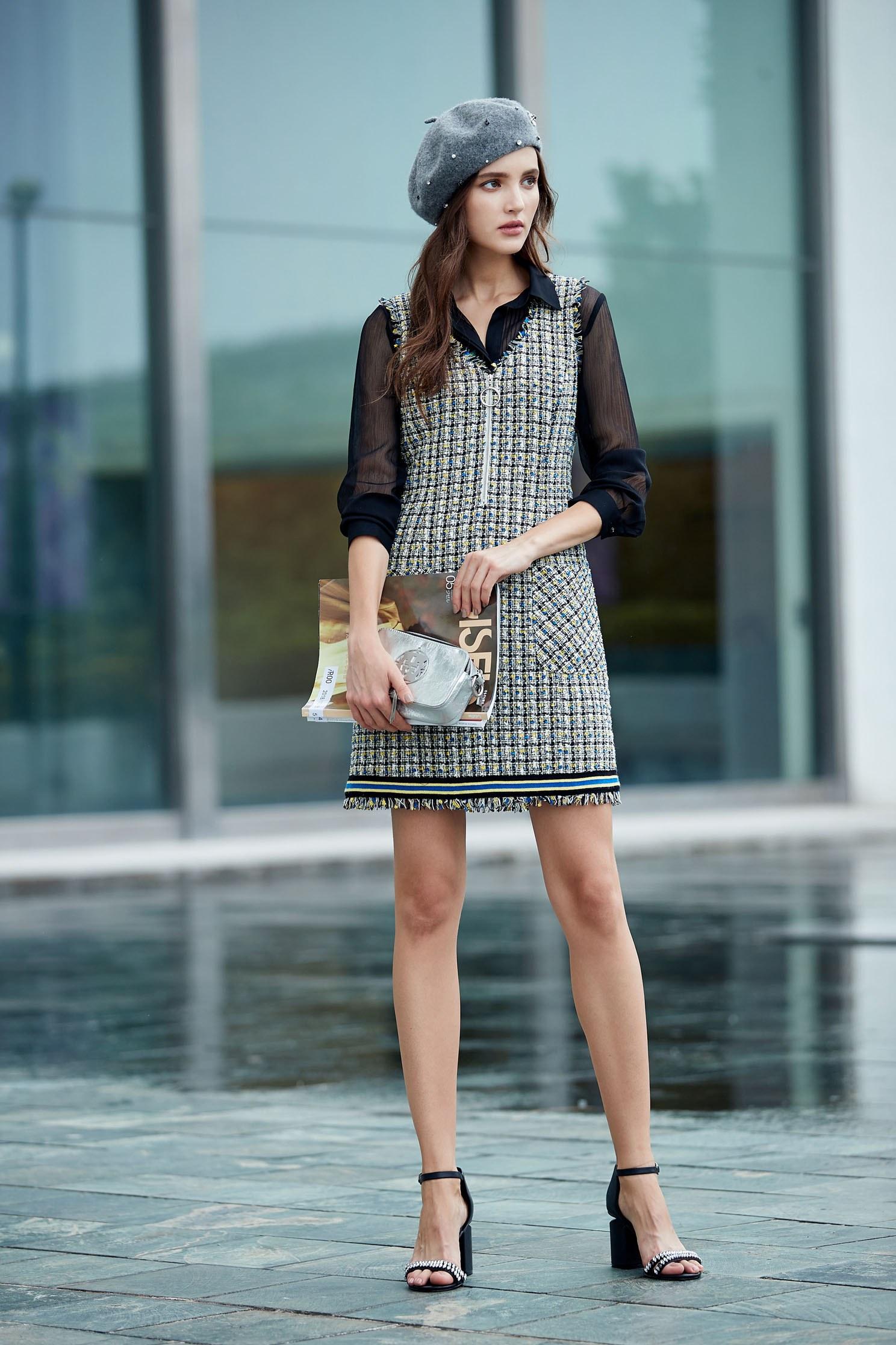 Classic England checkered Design dress