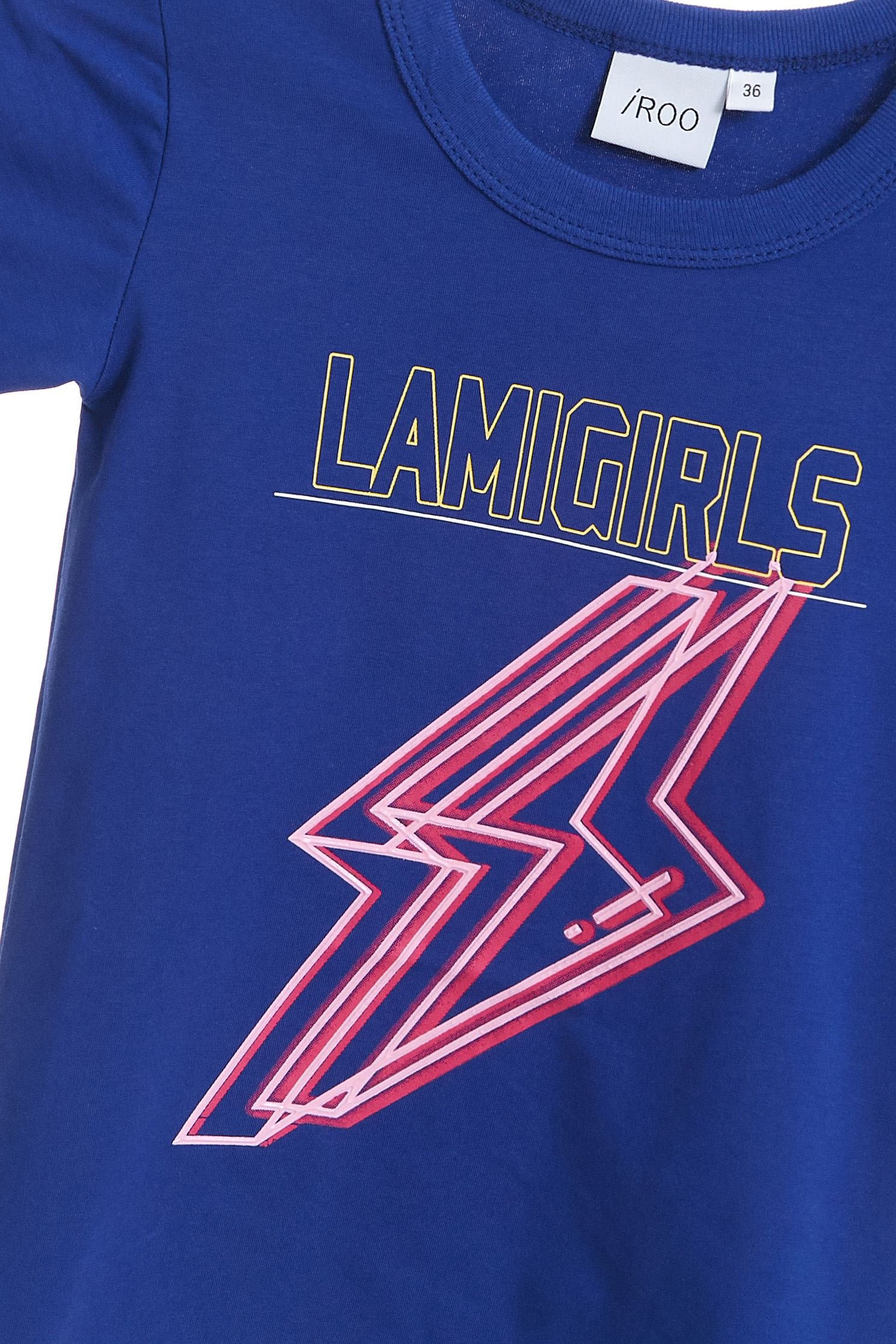 iRoo x LamiGirls Lightning Pop Cotton Short Sleeve Tshirt-kids