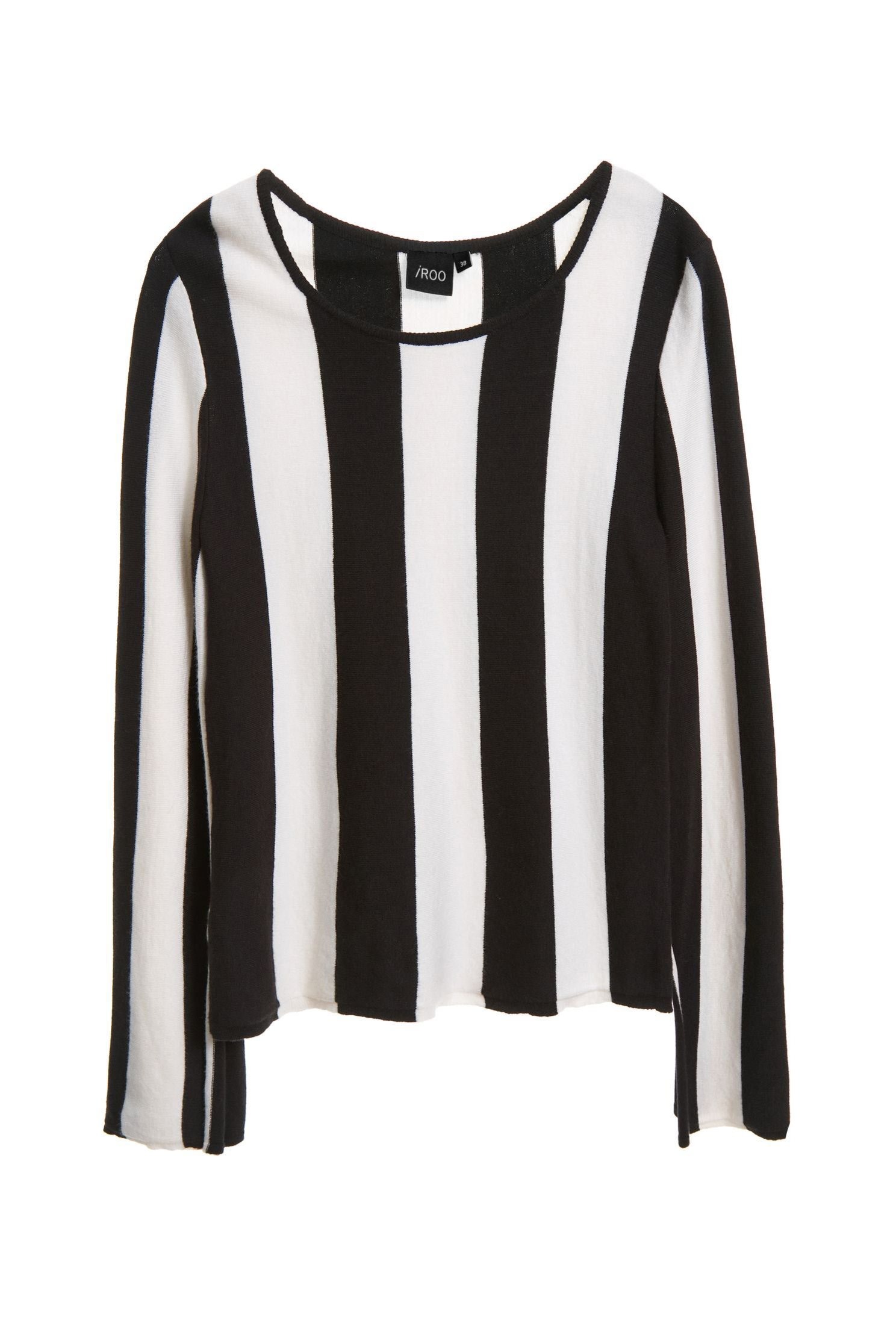 Thick striped knitted jumper