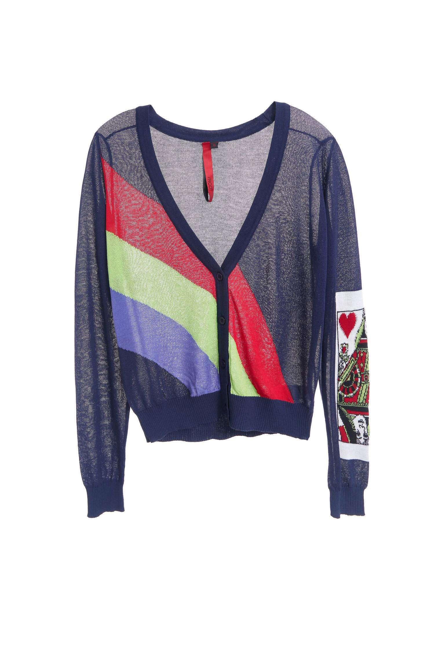 Poker Fashion Knit Long Sleeve Jacket