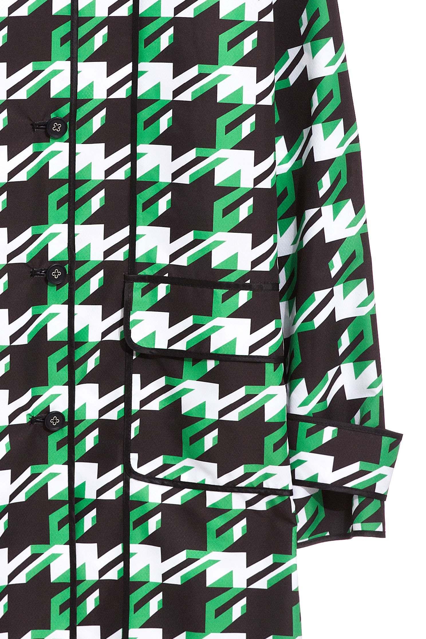 Houndstooth Pop Design Long Sleeve Jacket