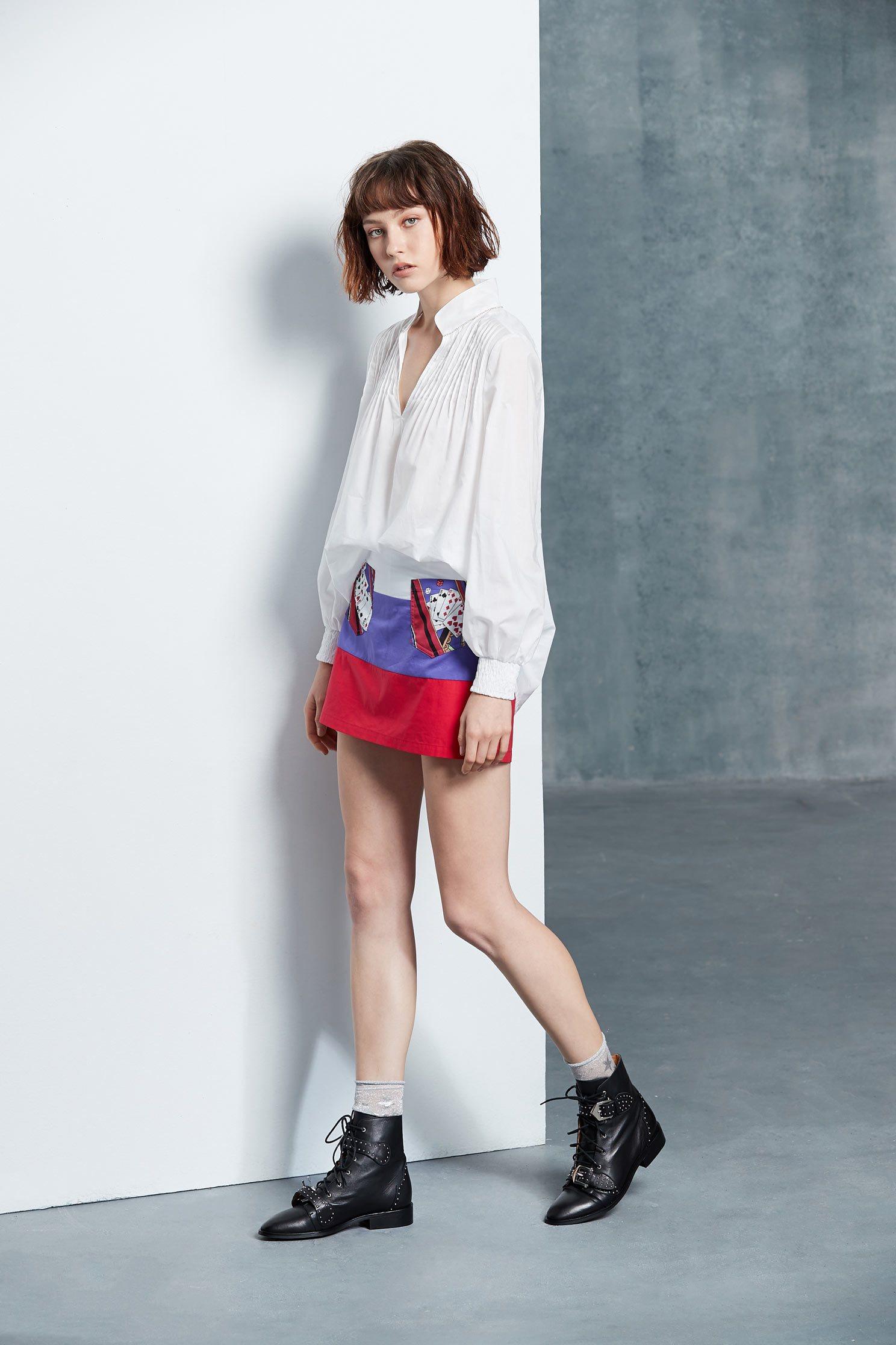 Elegant fashion long-sleeved top
