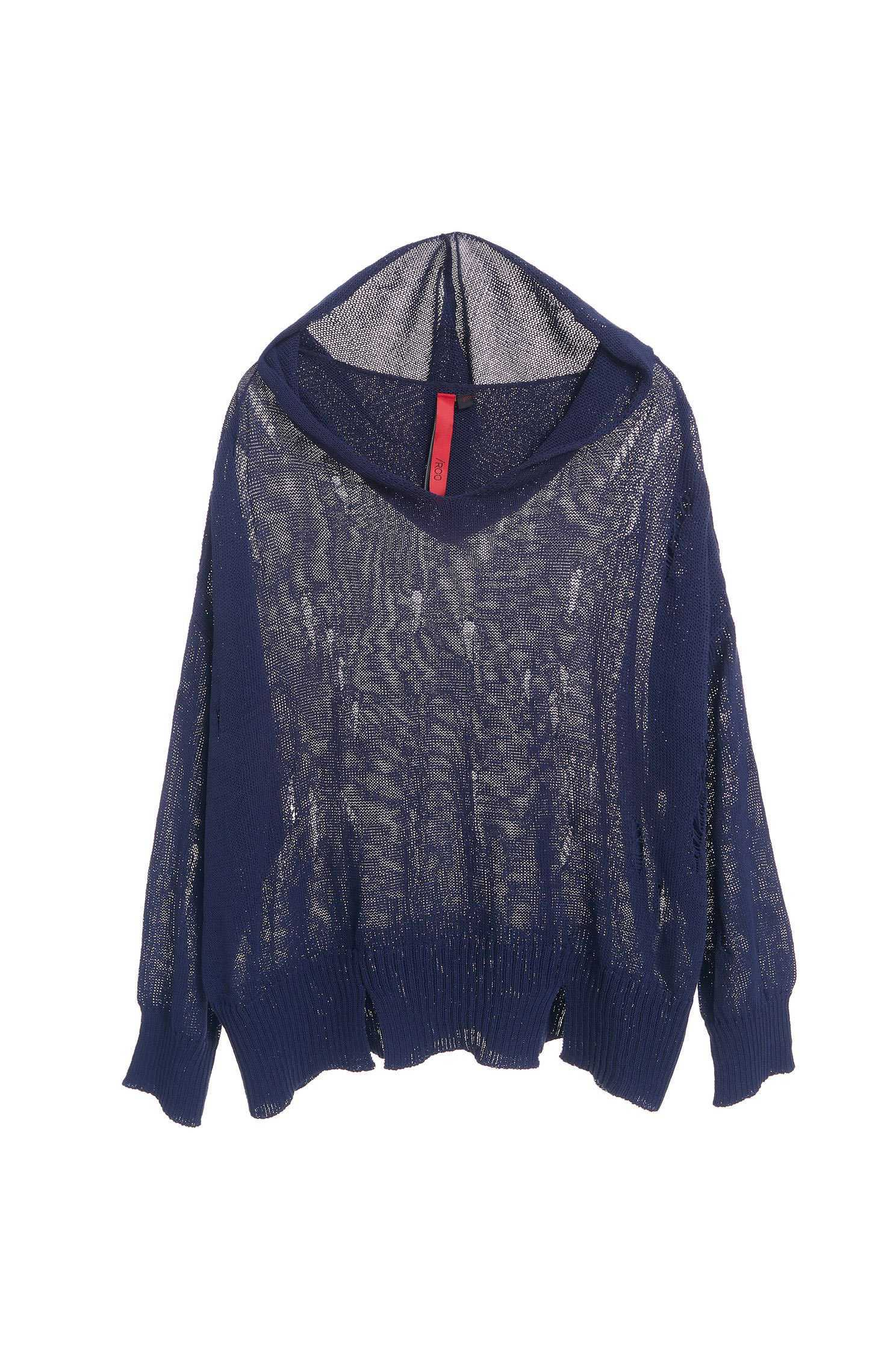 Hooded fashion long-sleeved top