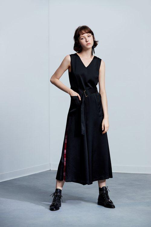 Elegant belt classic fashion sleeveless pants