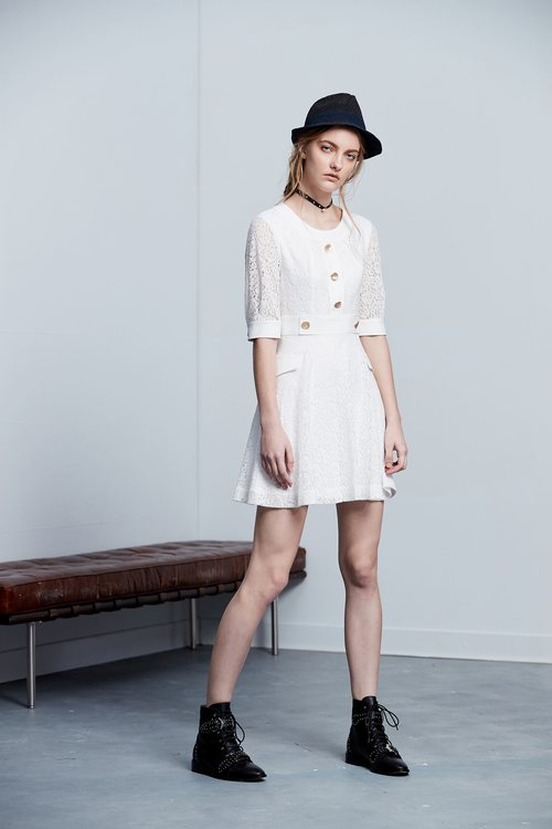 Elegant temperament classic long-sleeved dress