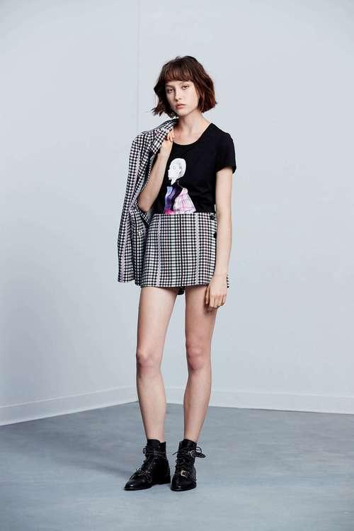 Portrait pattern classic cotton short-sleeved Tshirt