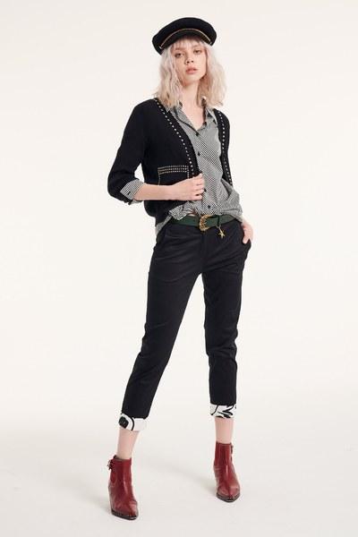 decoratio collar popular design knitted cardigan