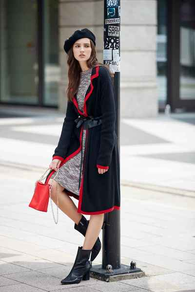 Classic coat with tie belt