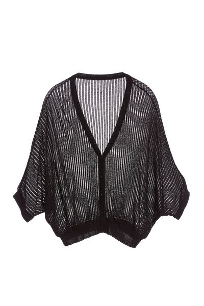 Semi transparent cardigan
