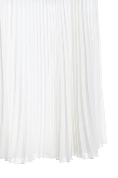 Elegant pleated maxi-skirt