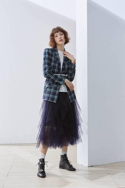 Romantic and elegant woman fashion dress