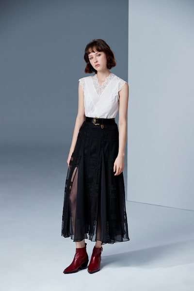 Elegant,classic design long skirt